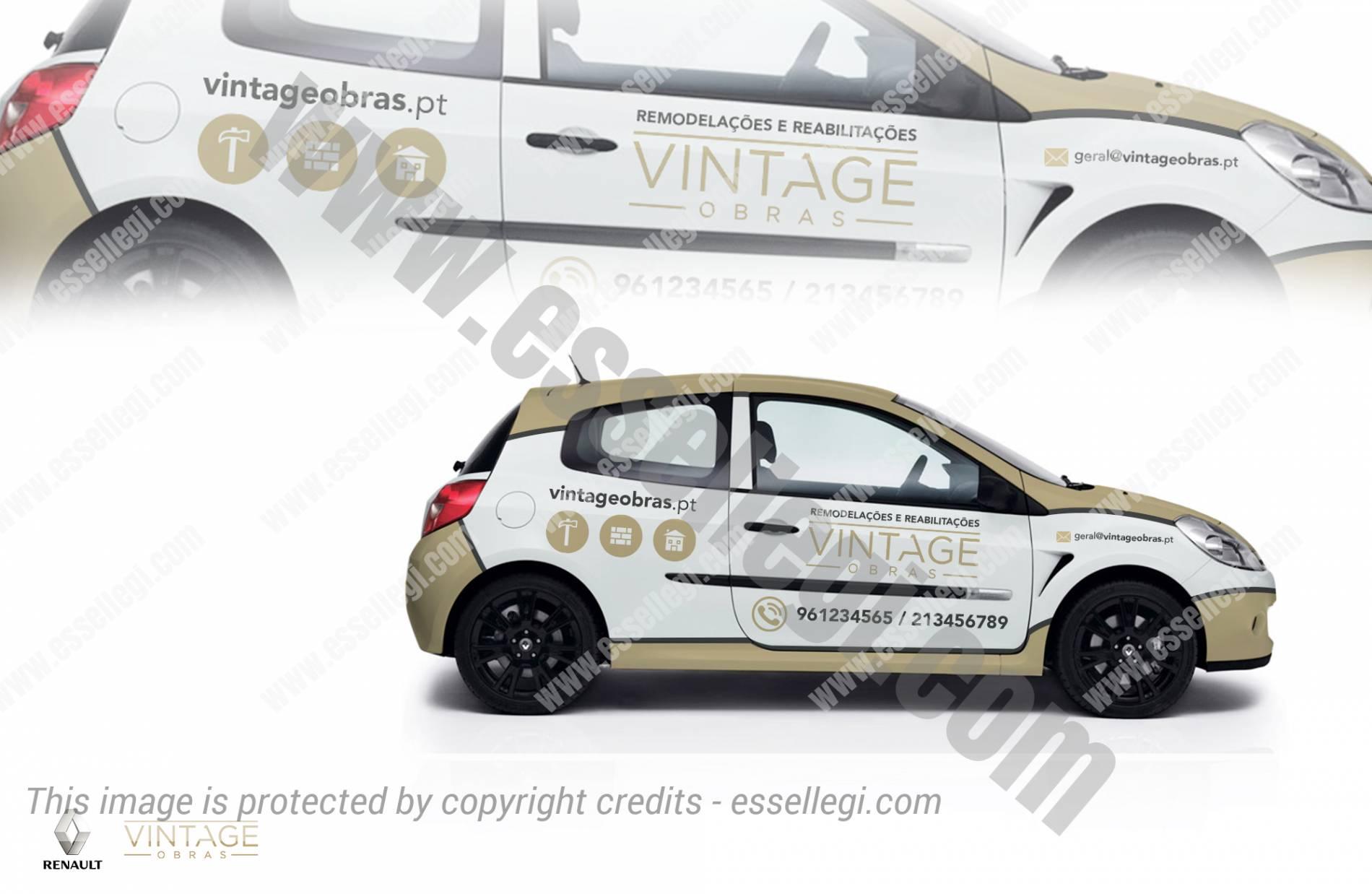 Design car wrap - Vintage Obras Renault Clio Car Wrap Design