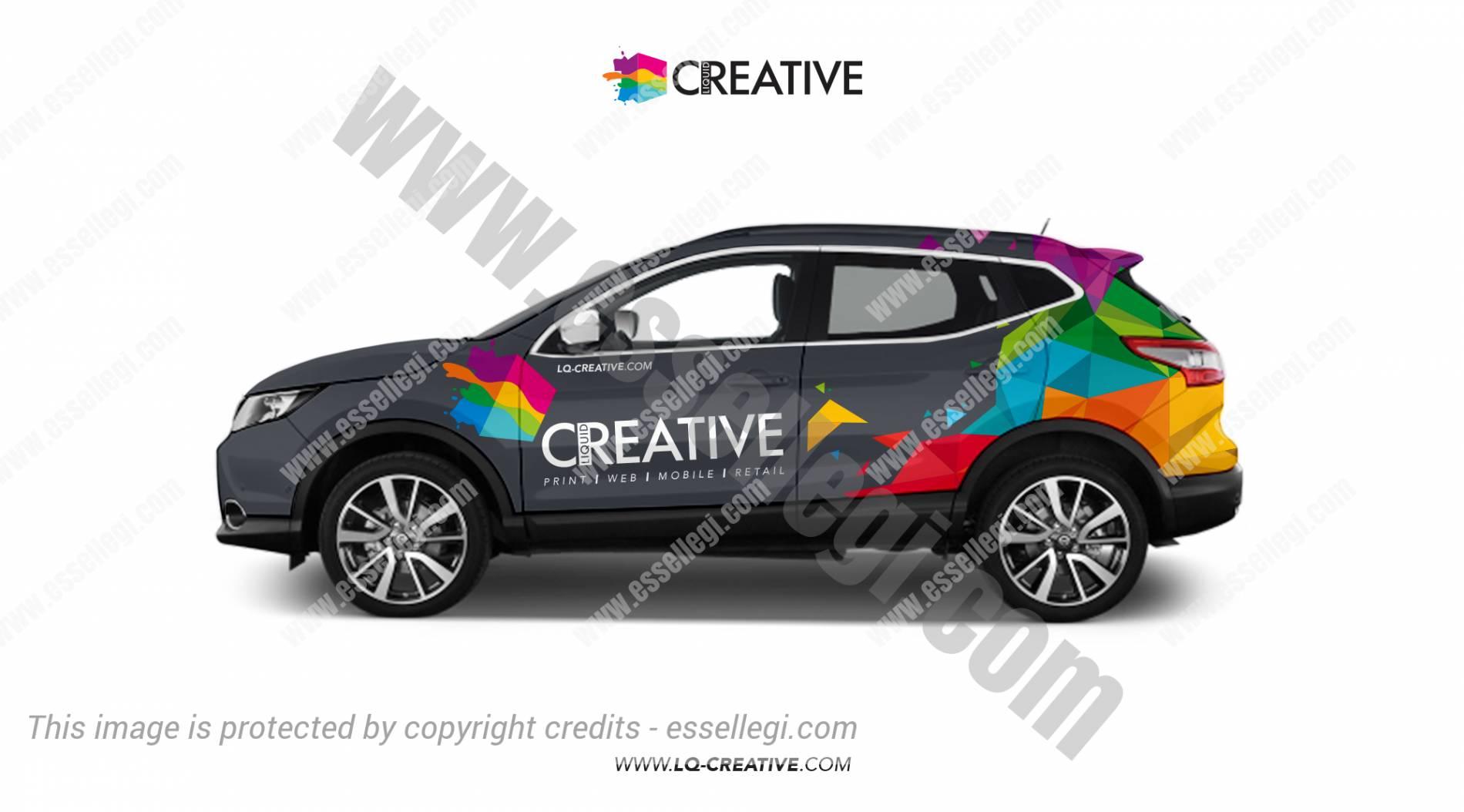 Design car wrap - Liquid Creative Nissan Qashqai Car Wrap Design