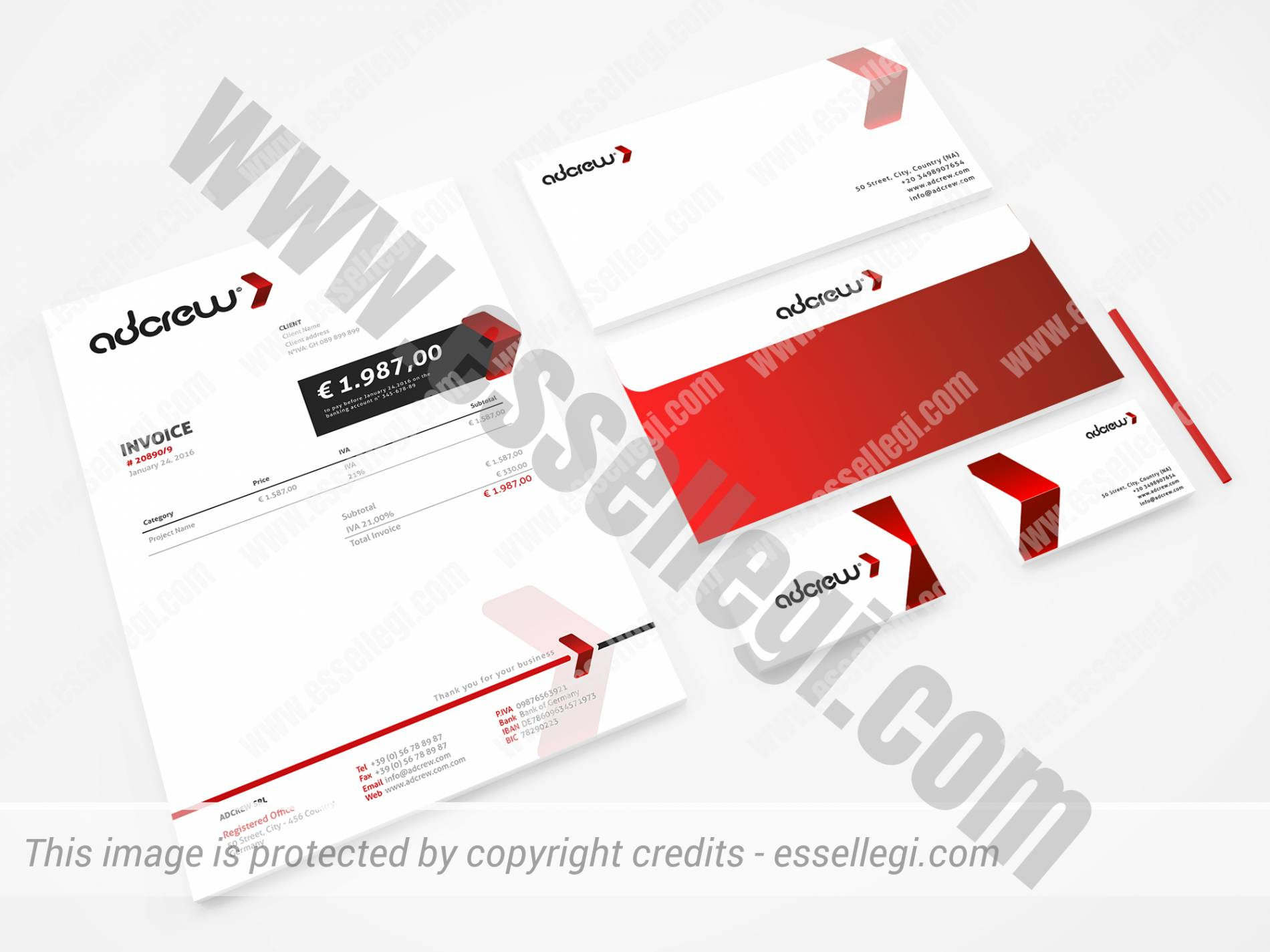 AdCrew Brand Identity Design by Essellegi Design