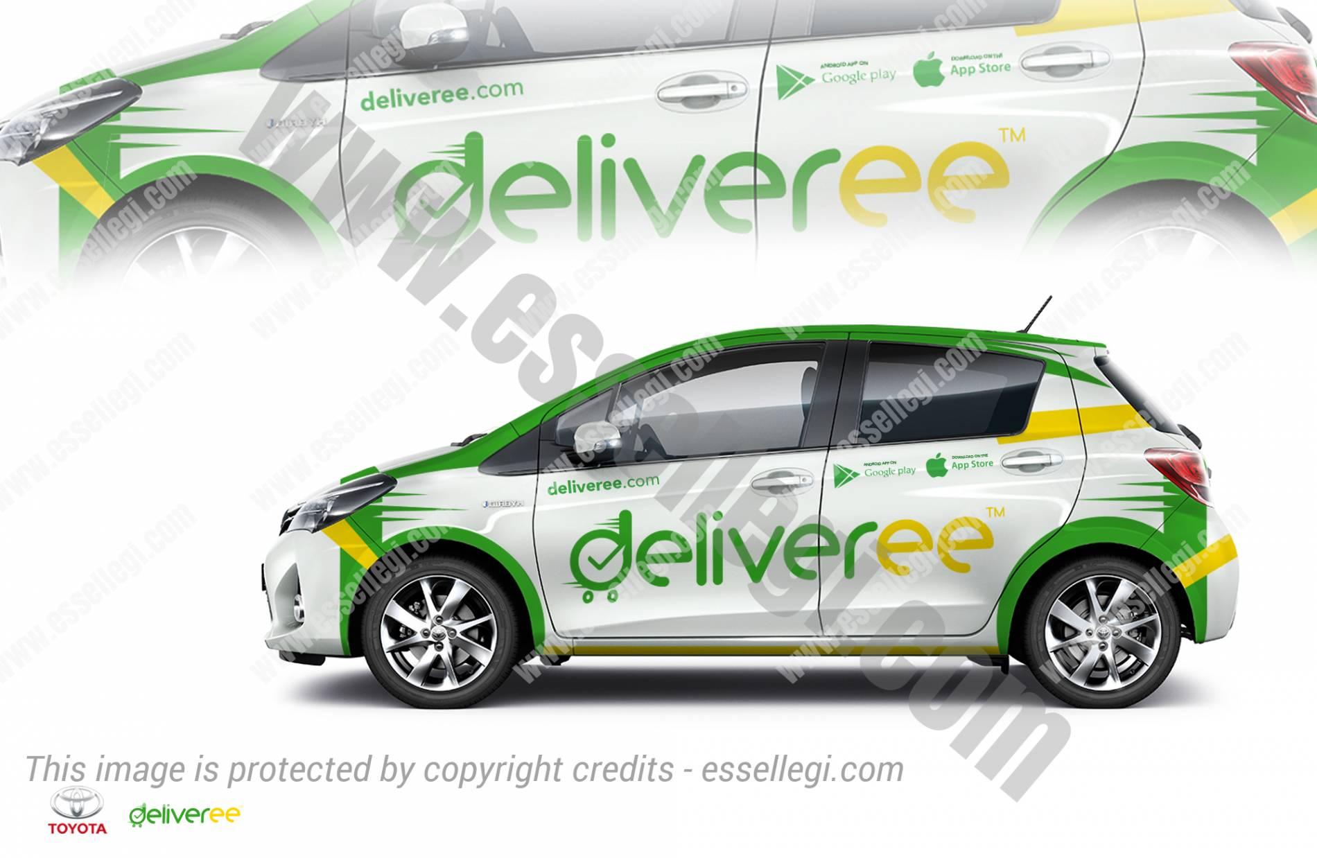 Design car wrap - Toyota Yaris Car Wrap Design