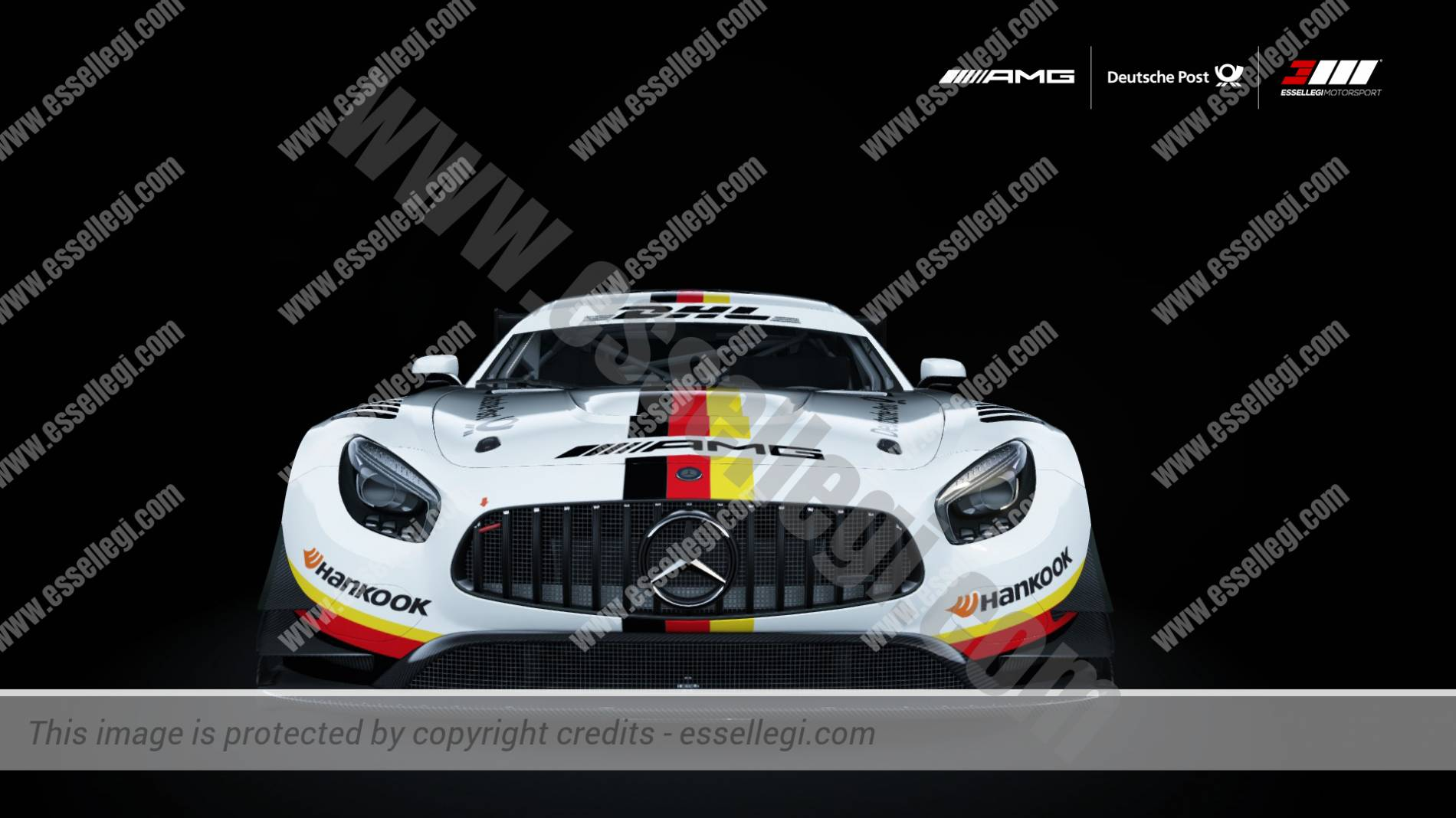 Mercedes benz amg gt3 deutsche post motorsport livery by for Mercedes benz motorsport