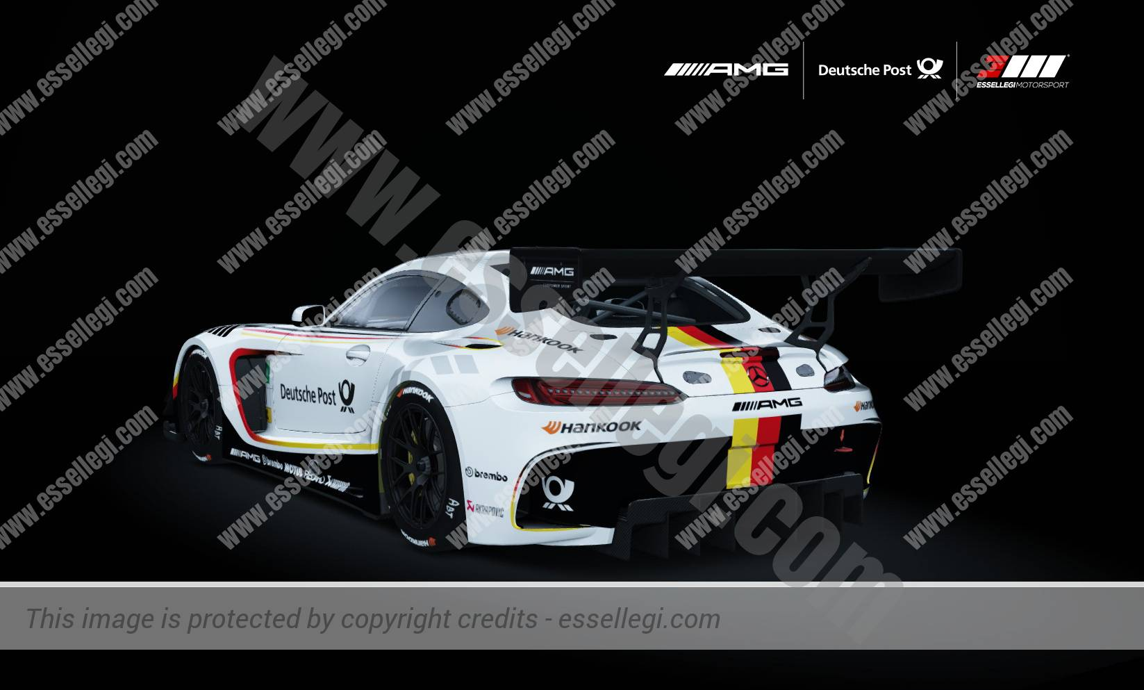 mercedes benz amg gt3 deutsche post motorsport livery by. Black Bedroom Furniture Sets. Home Design Ideas