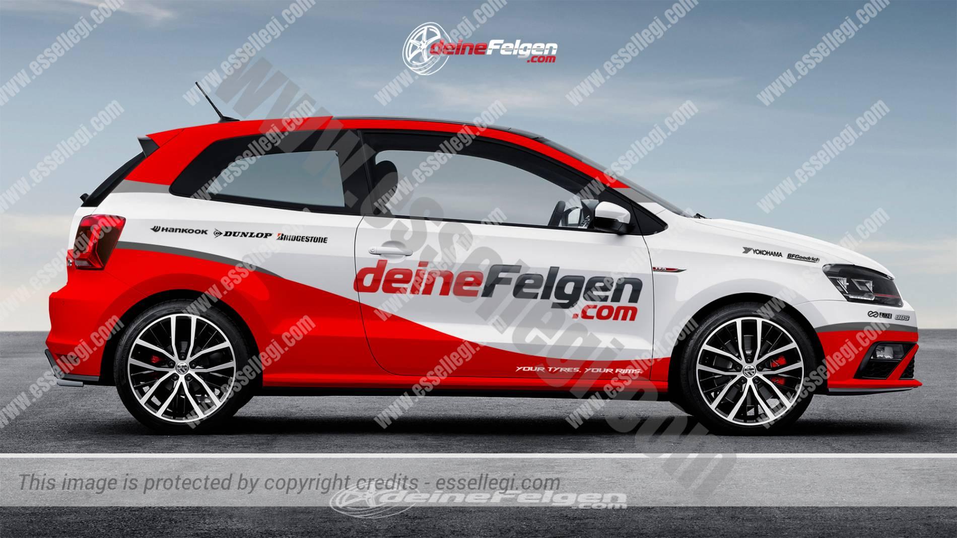 Design car wrap - Volkswagen Polo Car Wrap Design