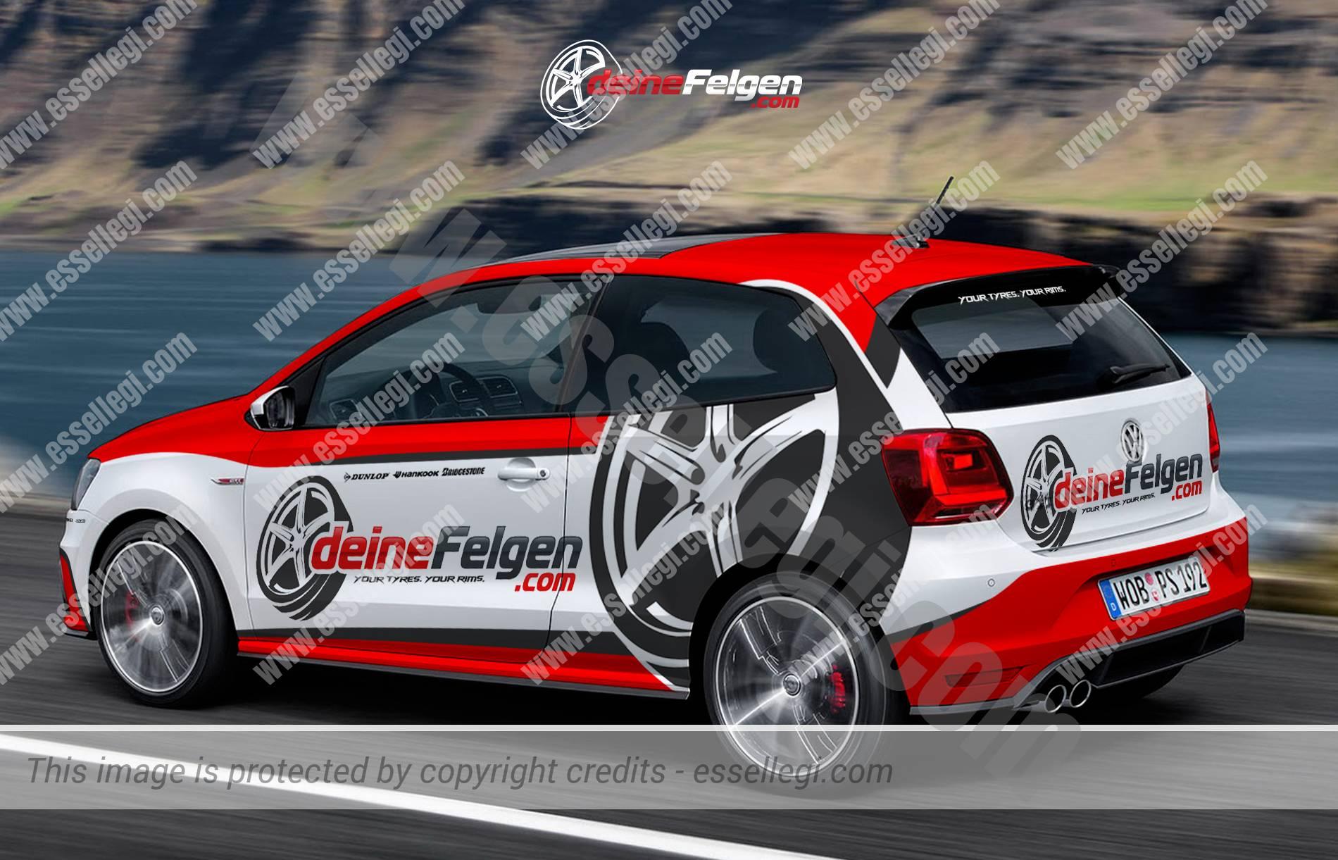 Design car wrap - Deinefelgen Volkswagen Polo Car Wrap Design