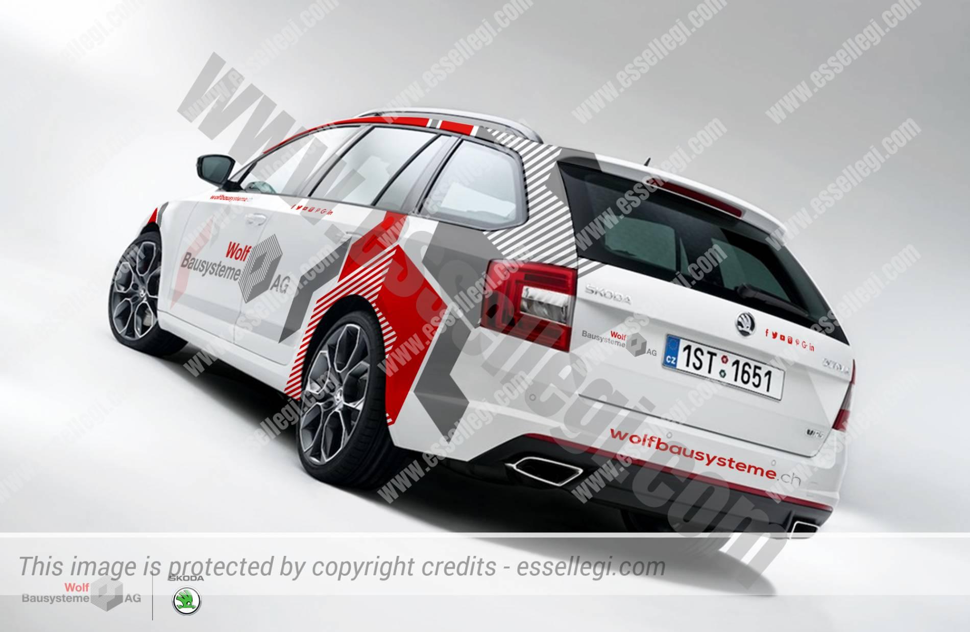 Skoda Octavia Car Wrap Design