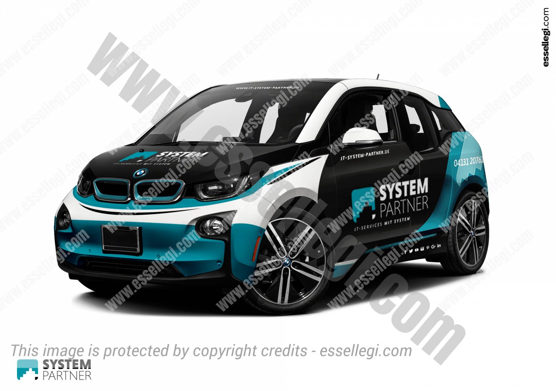 BMW I CAR WRAP DESIGN BY ESSELLEGI WRAP DESIGN - Car signage