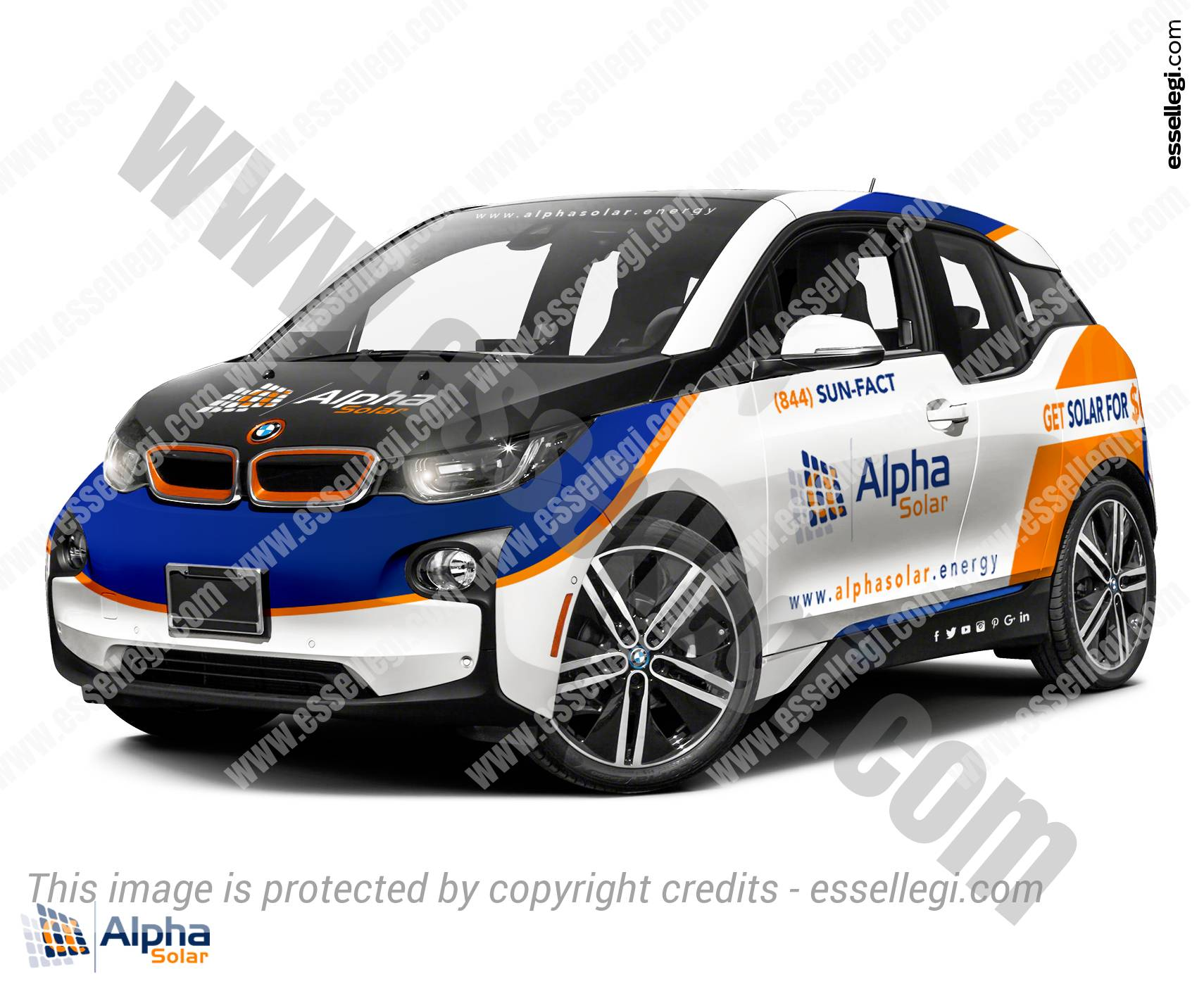 BMW i3 | Car Wrap Design by Essellegi. Car Signs, Car Signage, Car Signwriting, Car Wrap Designer, Car Wrap Design by Essellegi.