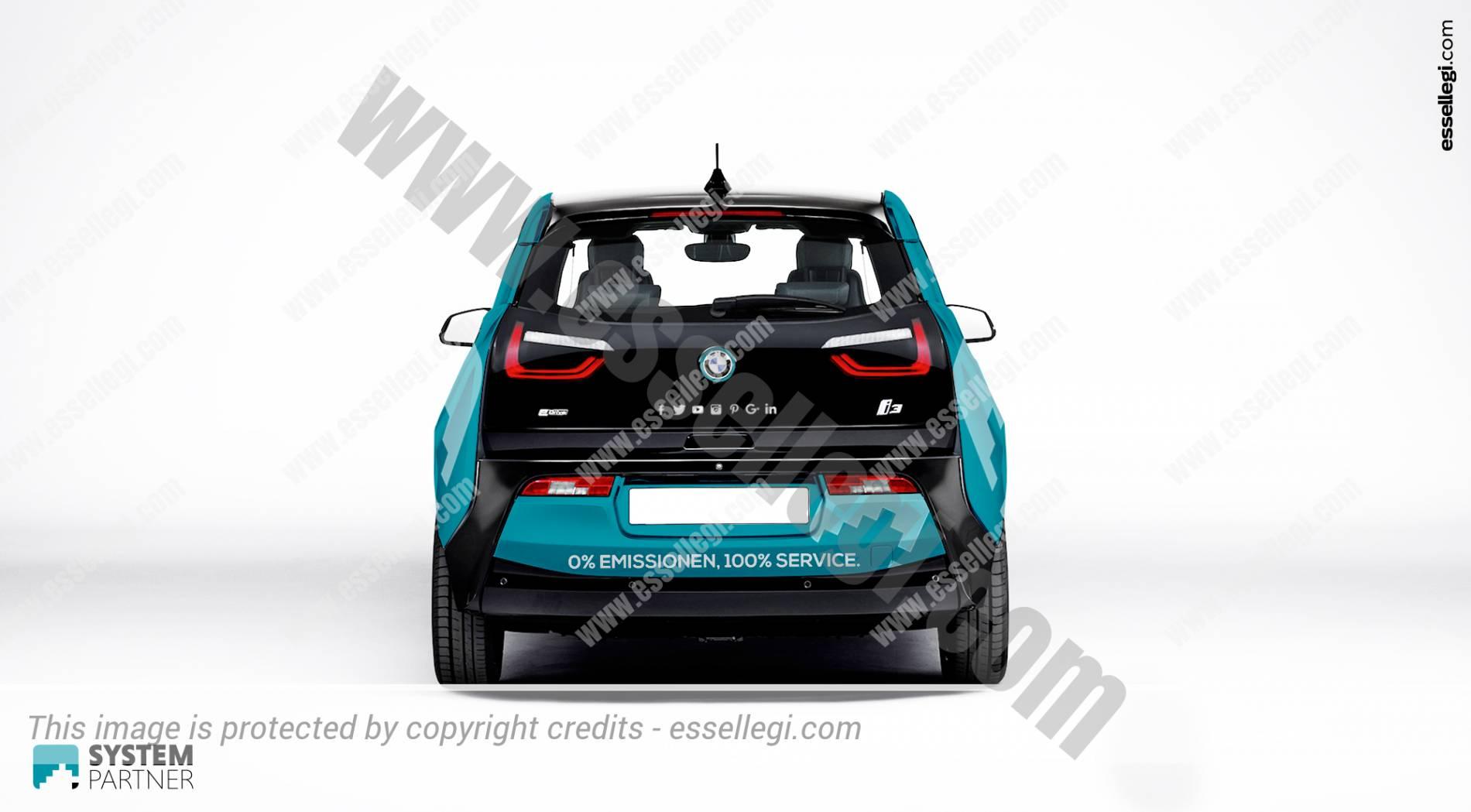 BMW i3 |Car Wrap Design by Essellegi. Car Signs, Car Signage, Car Signwriting, Car Wrap Designer, Car Wrap Design by Essellegi.