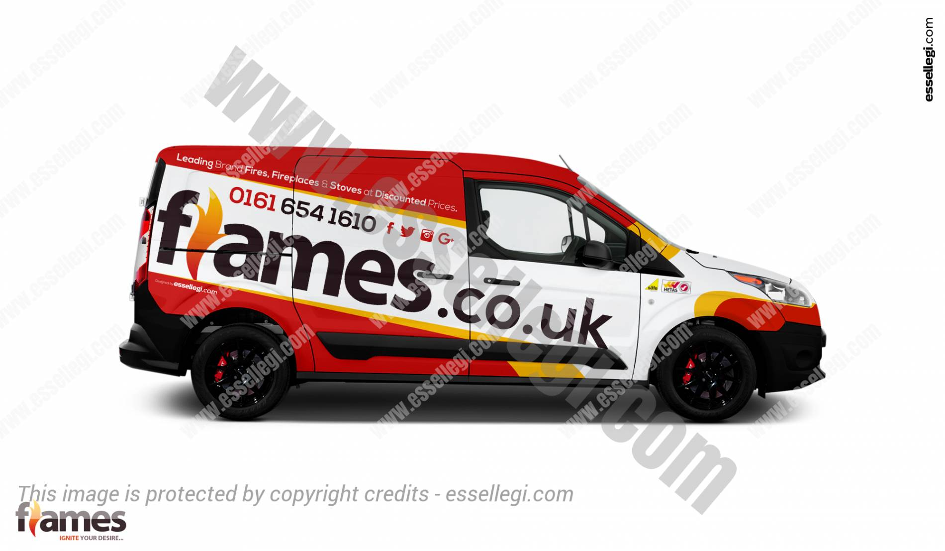 Ford Transit Connect | Van Wrap Design by Essellegi. Van Signs, Van Signage, Van Wrapping, Van Signwriting, Van Wrap Designer, Signs for Van, Van Logo by Essellegi.