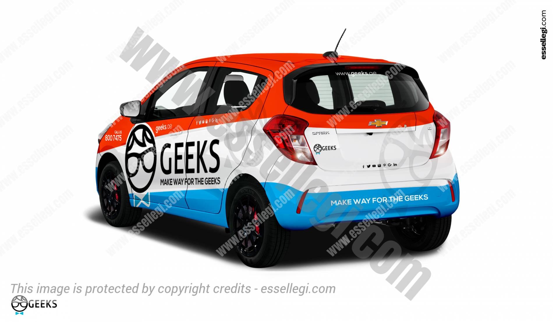 CHEVROLET SPARK CAR WRAP DESIGN BY ESSELLEGI - Car signage