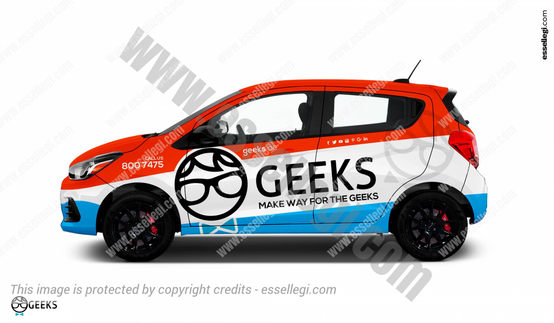 Best Chevrolet Spark Wrap Design For Software Services Company By Essellegi