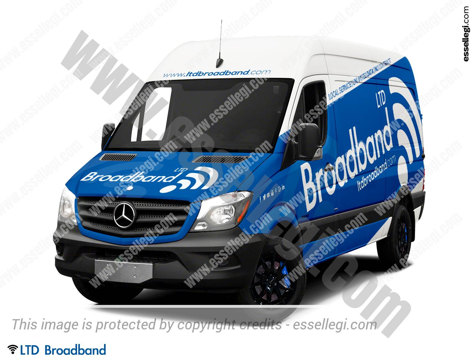 Mercedes Sprinter Van | Van Wrap Design by Essellegi. Van Signs, Van Signage, Van Wrapping, Van Signwriting, Van Wrap Designer, Signs for Van, Van Logo by Essellegi.