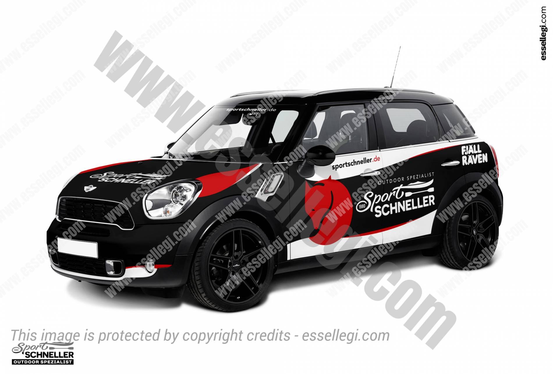 Mini Cooper Countryman   Car Wrap Design by Essellegi. Car Signs, Car Signage, Car Signwriting, Car Wrap Designer, Car Wrap Design by Essellegi.