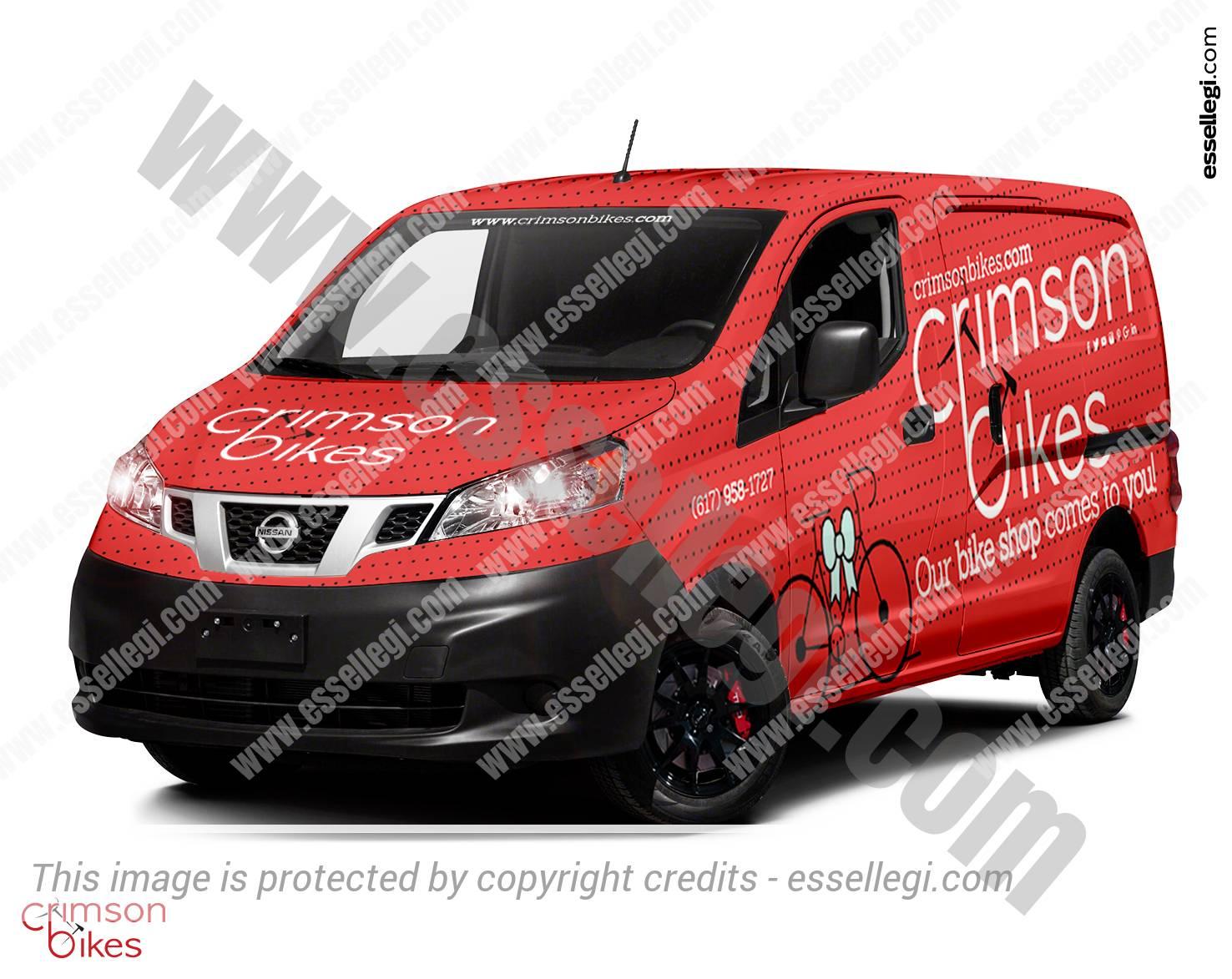 Nissan NV200 - Van Wrap Design by Essellegi. Van Signs, Van Signage, Van Wrapping, Van Signwriting, Van Wrap Designer, Signs for Van, Van Logo by Essellegi.
