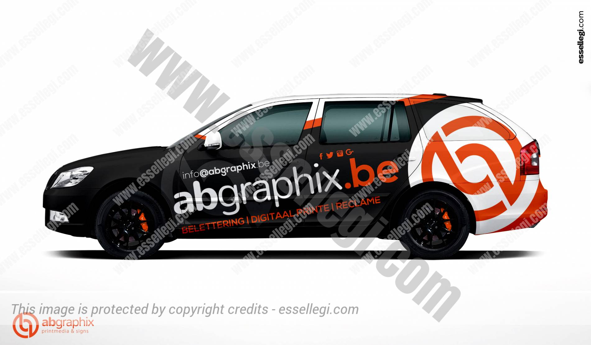 Skoda Octavia Car Wrap Design By Essellegi