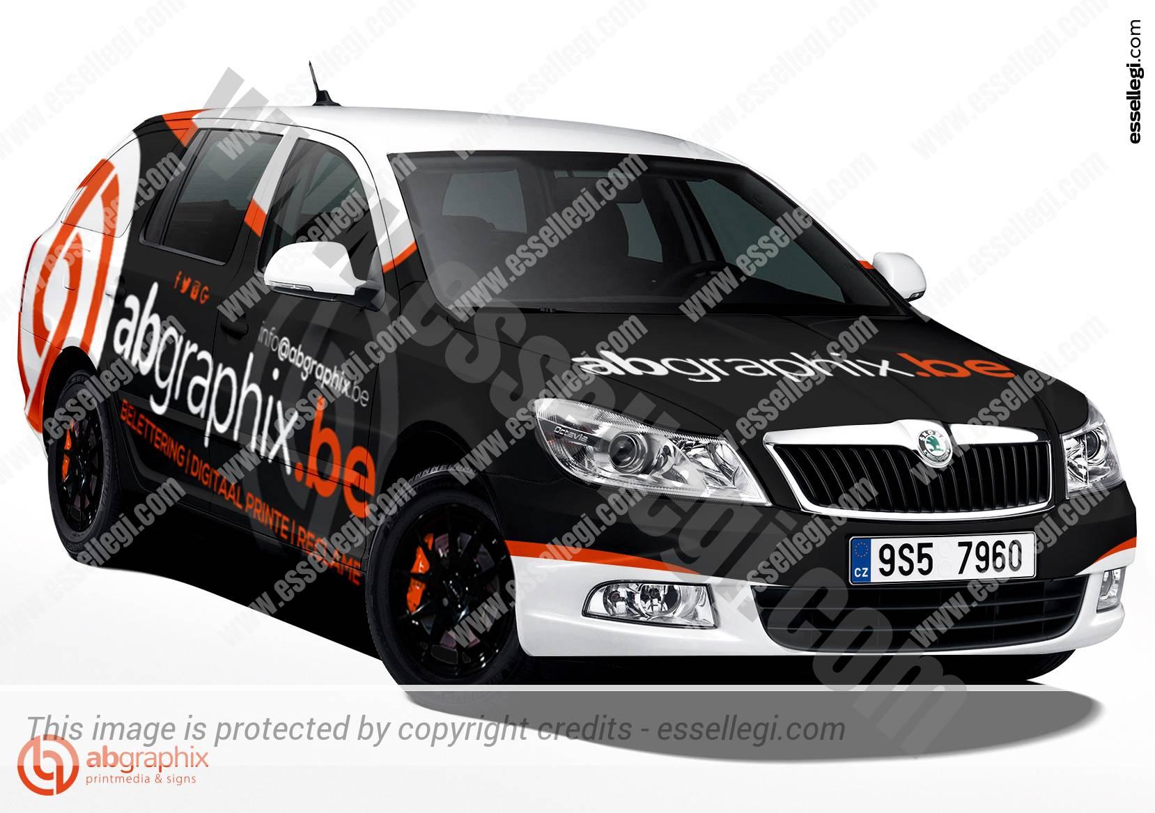Skoda Octavia Car Wrap Design By Essellegi