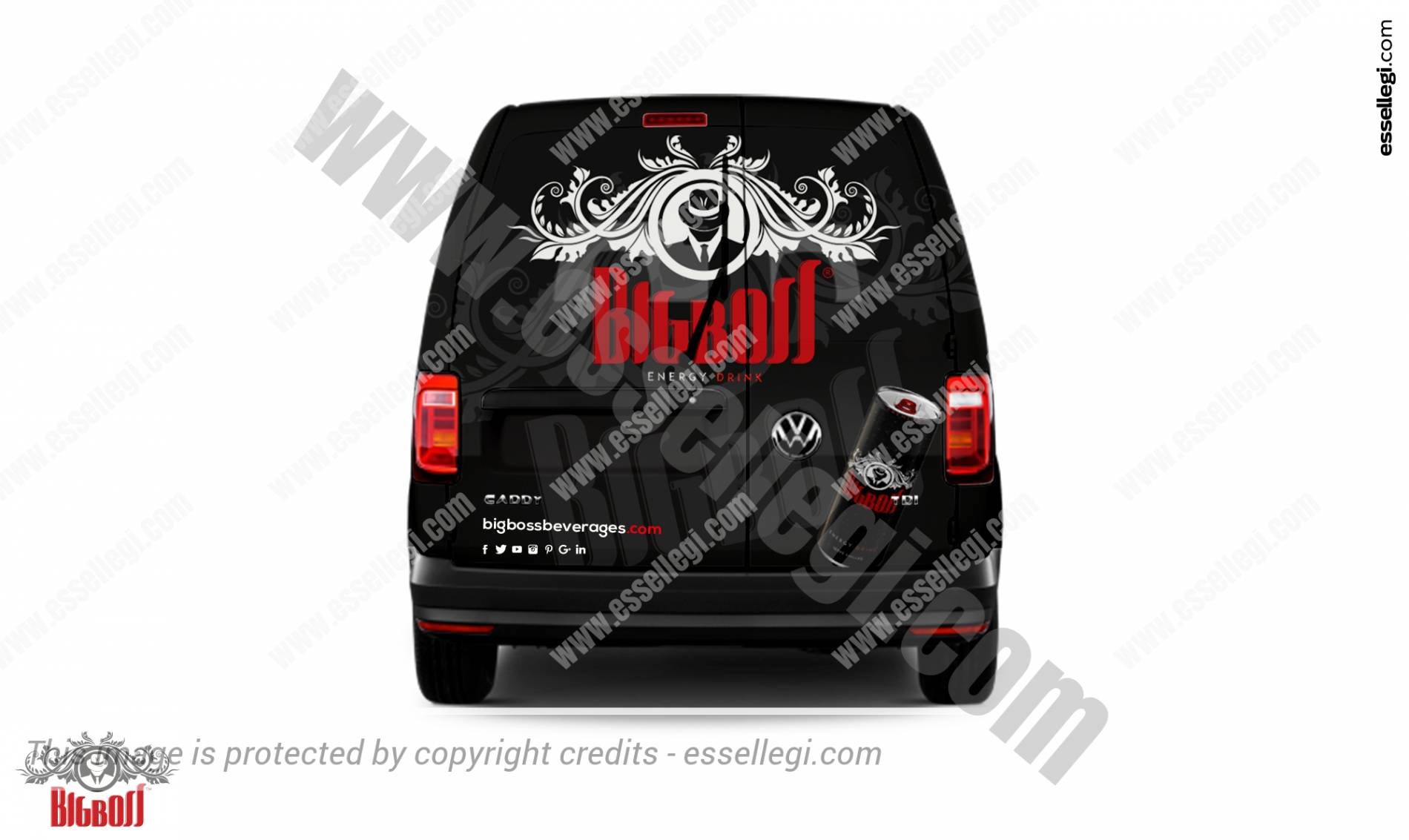 Volkswagen Caddy | Van Wrap Design by Essellegi. Van Signs, Van Signage, Van Wrapping, Van Signwriting, Van Wrap Designer, Signs for Van, Van Logo, Van Graphic by Essellegi.