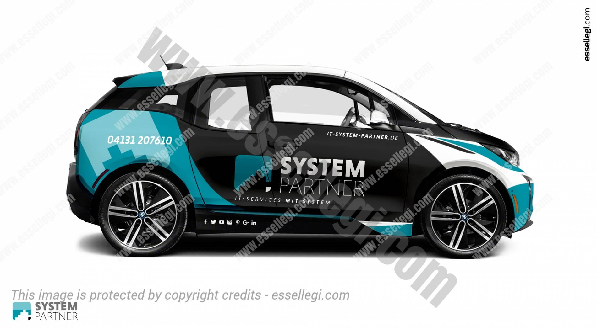 BMW i3 | Car Wrap Design by Essellegi. Car Signs, Car Signage, Car Signwriting, Car Wrap Designer, Car Graphic, Custom Vehicle Signage, Car Wrap Design by Essellegi.