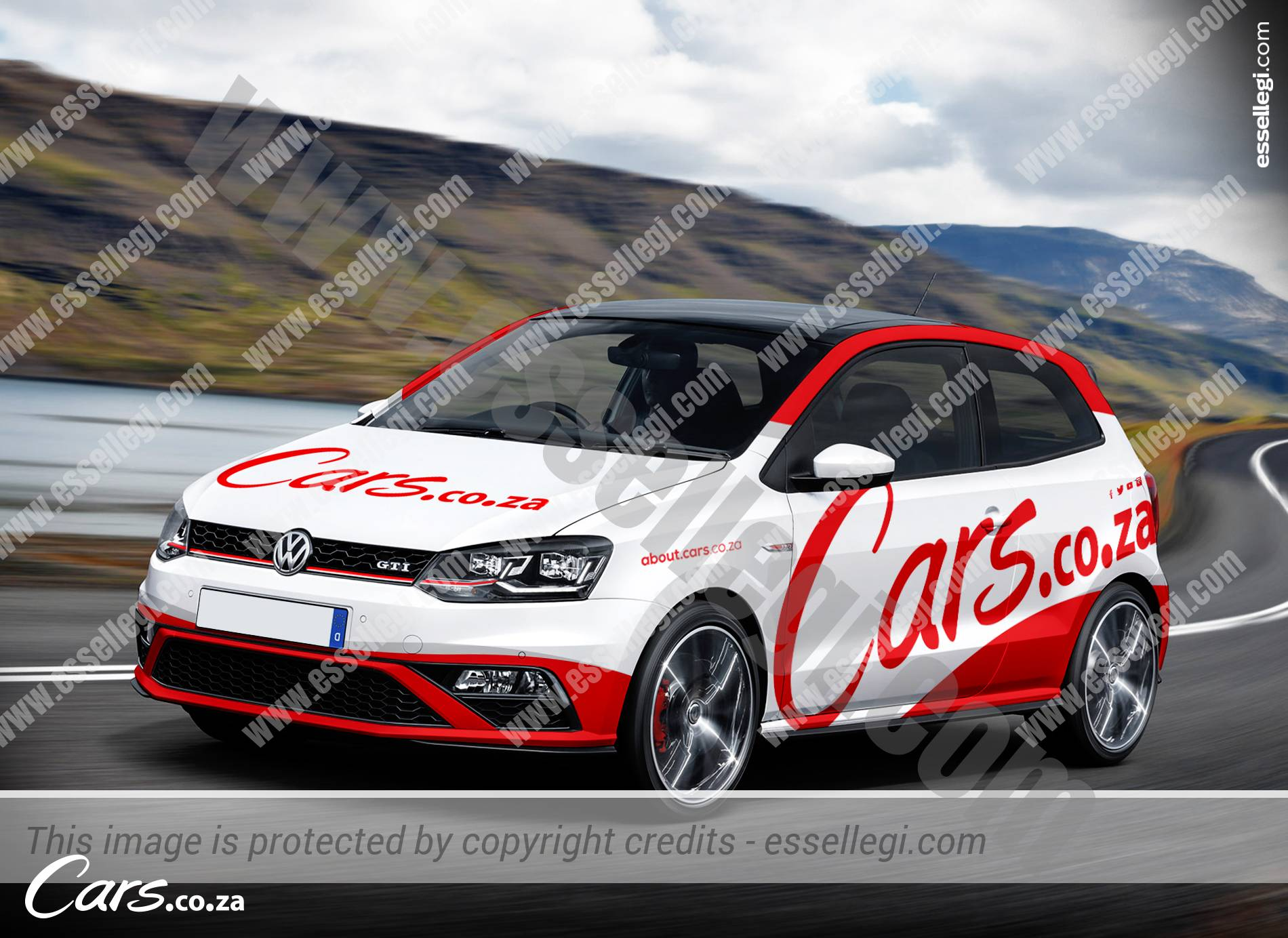 VOLKSWAGEN POLO GTI CAR WRAP DESIGN BY ESSELLEGI - Car signwriting