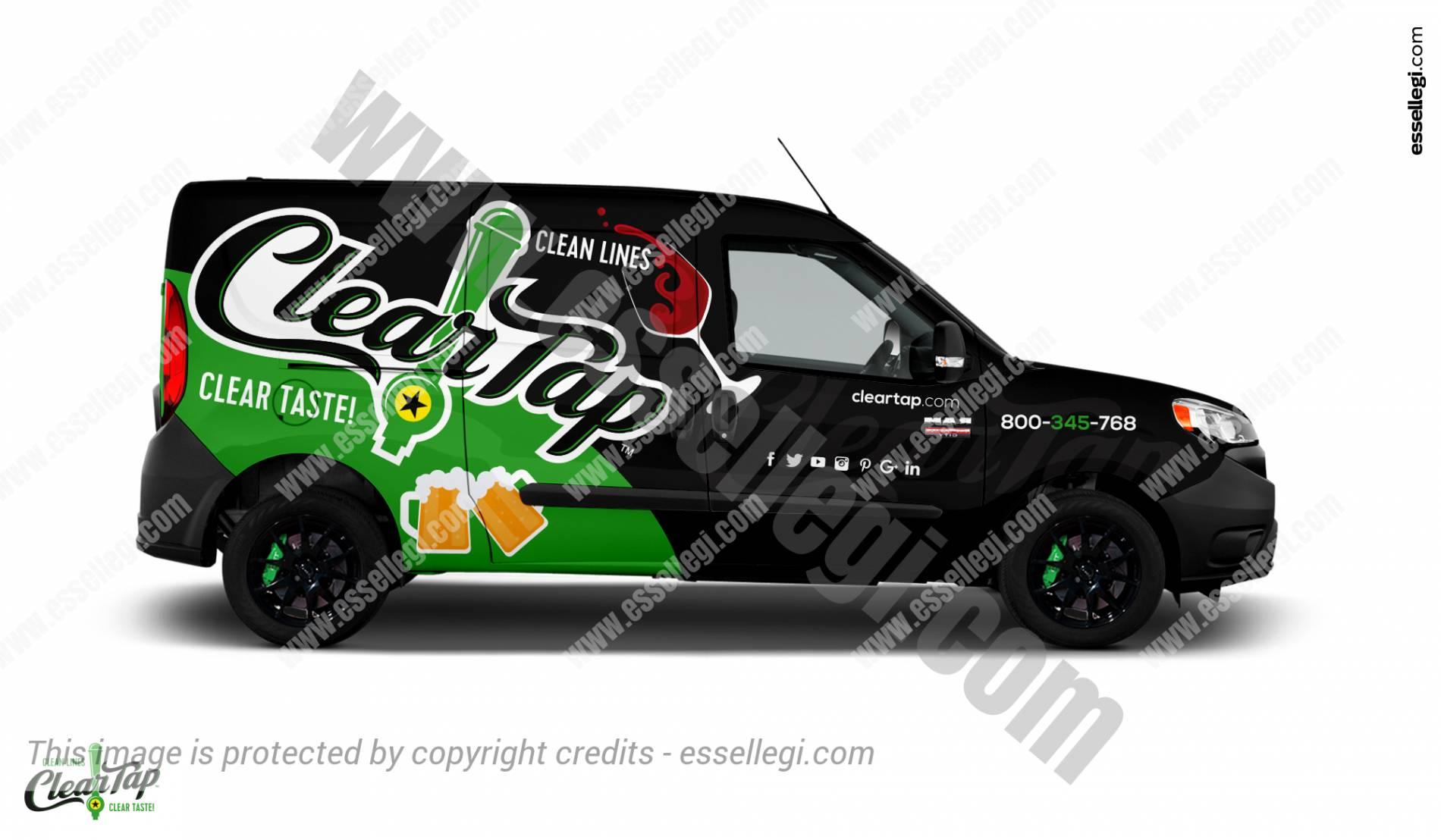 Dodge Ram ProMaster City | Van Wrap Design by Essellegi. Van Signs, Van Signage, Van Wrapping, Van Signwriting, Van Wrap Designer, Signs for Van, Van Logo, Van Graphic by Essellegi.