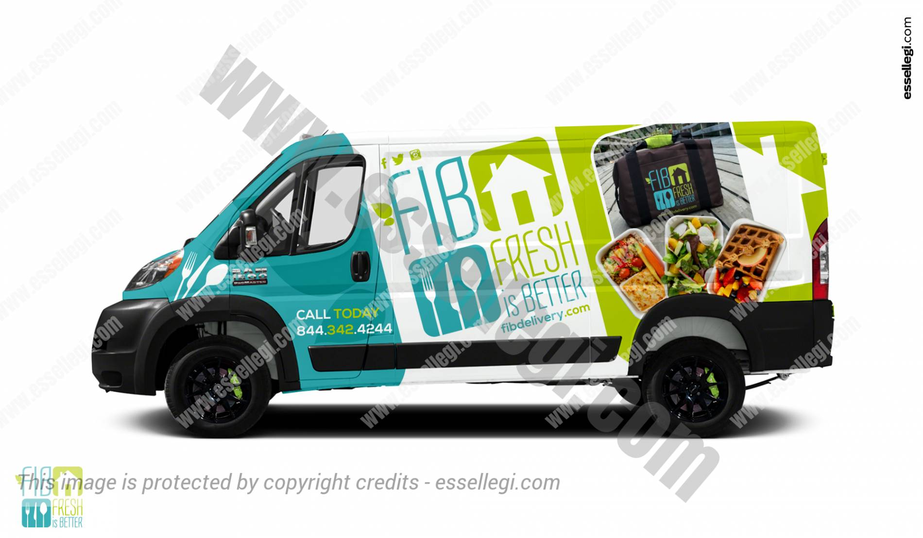 Dodge Ram Promaster >> Dodge RAM ProMaster Wrap Design for Food Delivery Van by Essellegi