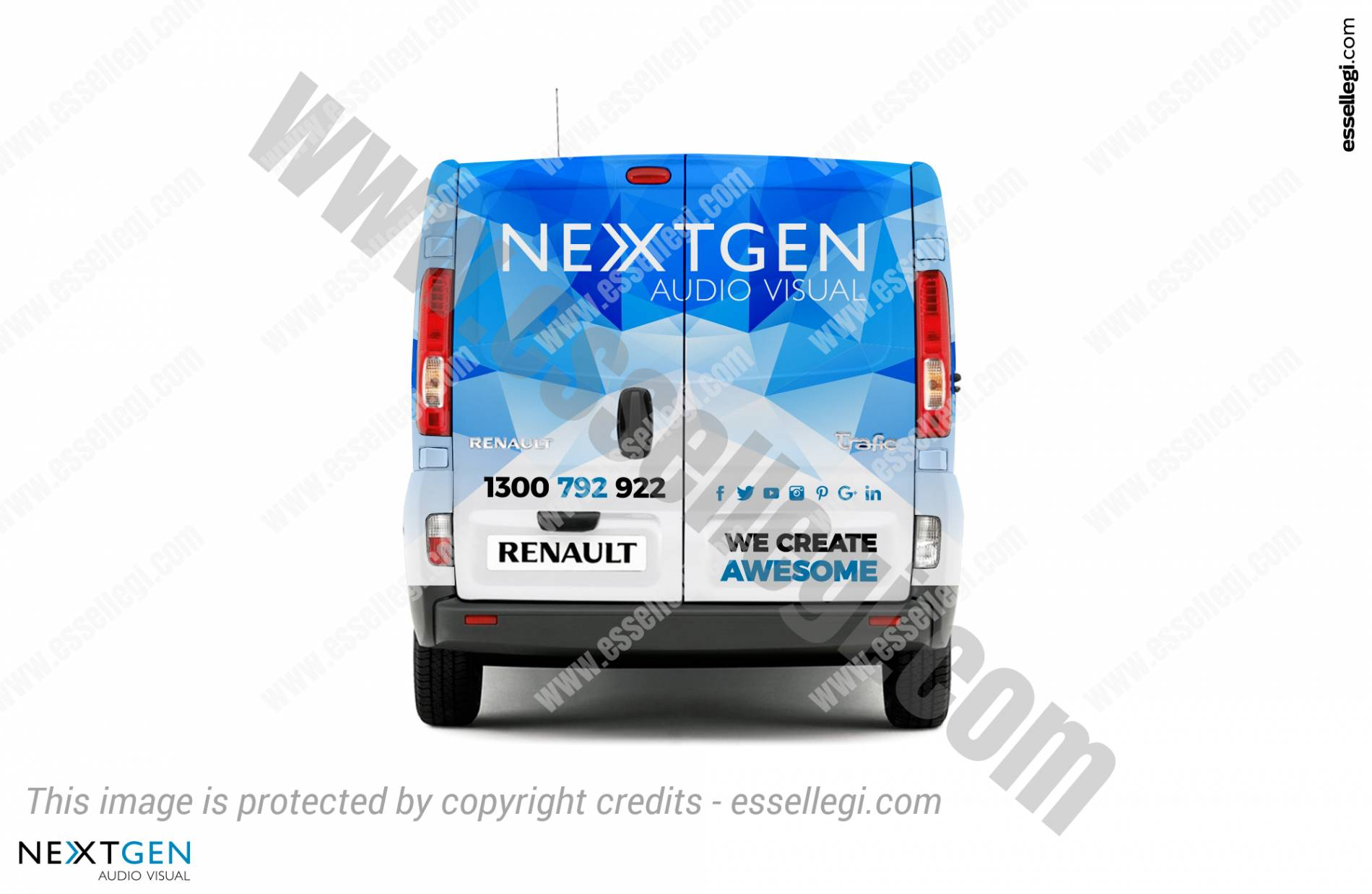 Renault Trafic | Van Wrap Design by Essellegi. Van Signs, Van Signage, Van Wrapping, Van Signwriting, Van Wrap Designer, Signs for Van, Van Logo, Van Graphic by Essellegi.