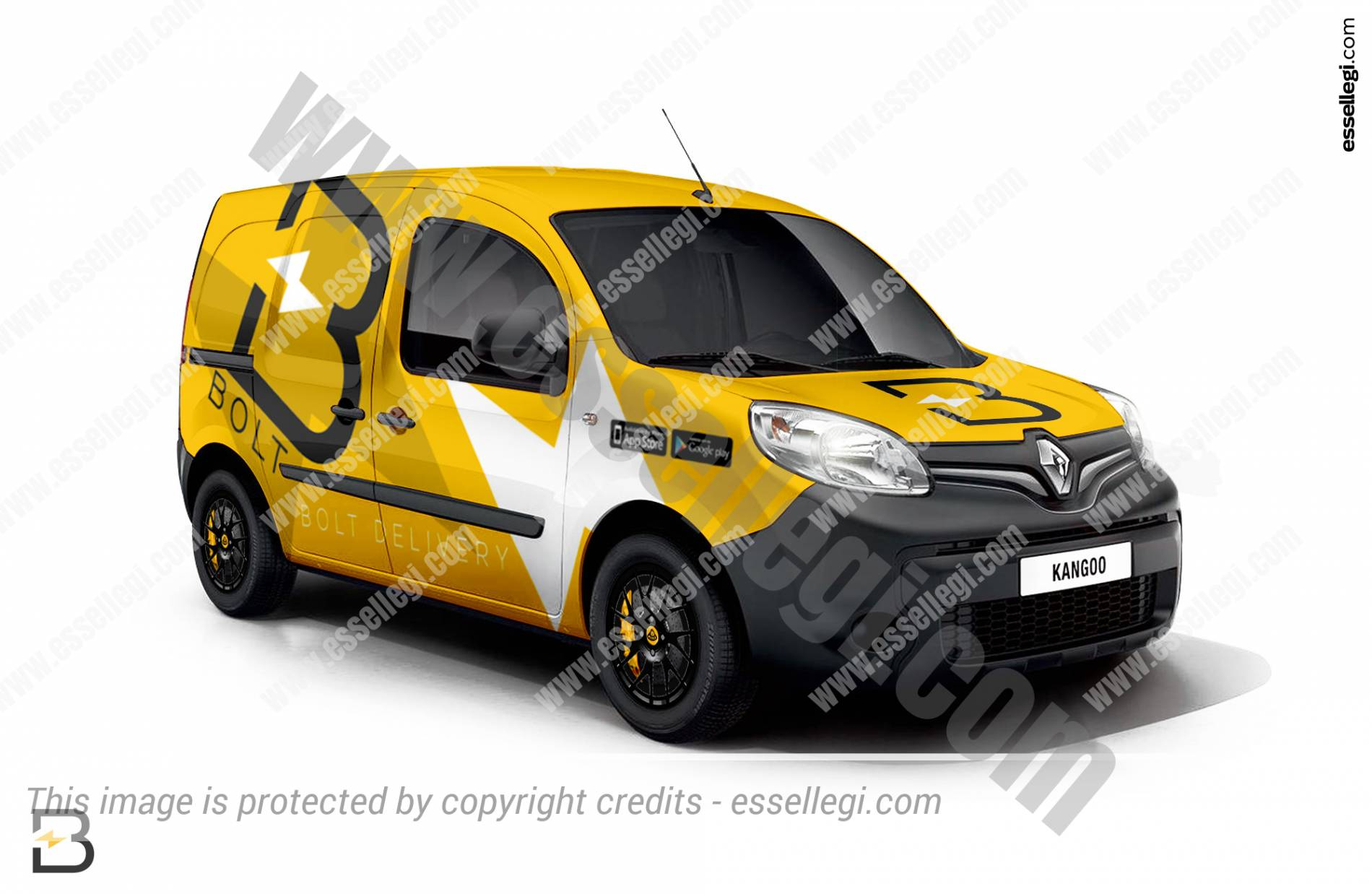 Renault Kangoo | Van Wrap Design by Essellegi. Van Signs, Van Signage, Van Wrapping, Van Signwriting, Van Wrap Designer, Signs for Van, Van Logo, Van Graphic by Essellegi.
