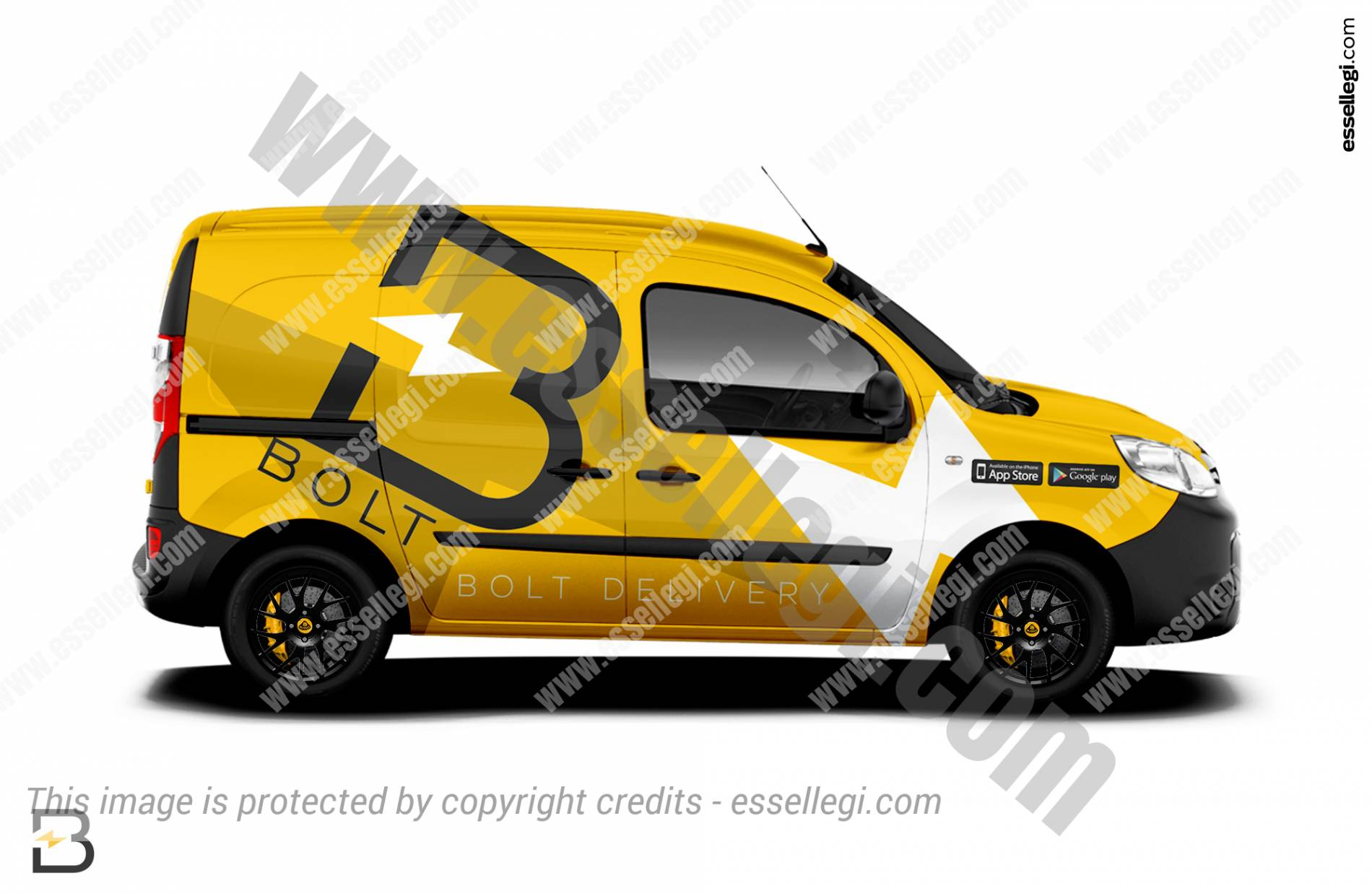 renault kangoo wrap design for startup mobile app by essellegi. Black Bedroom Furniture Sets. Home Design Ideas