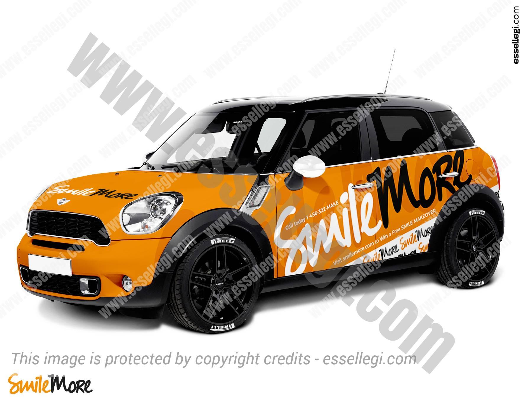 Mini Cooper Countryman Car Wrap Design