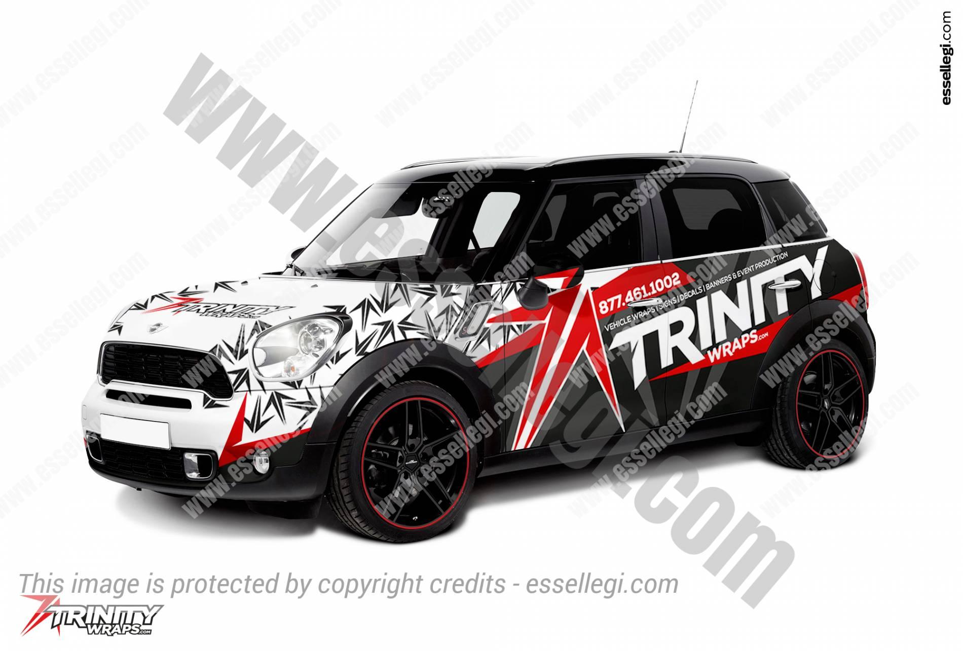 MINI COOPER COUNTRYMAN CAR WRAP DESIGN BY ESSELLEGI - Car signwriting
