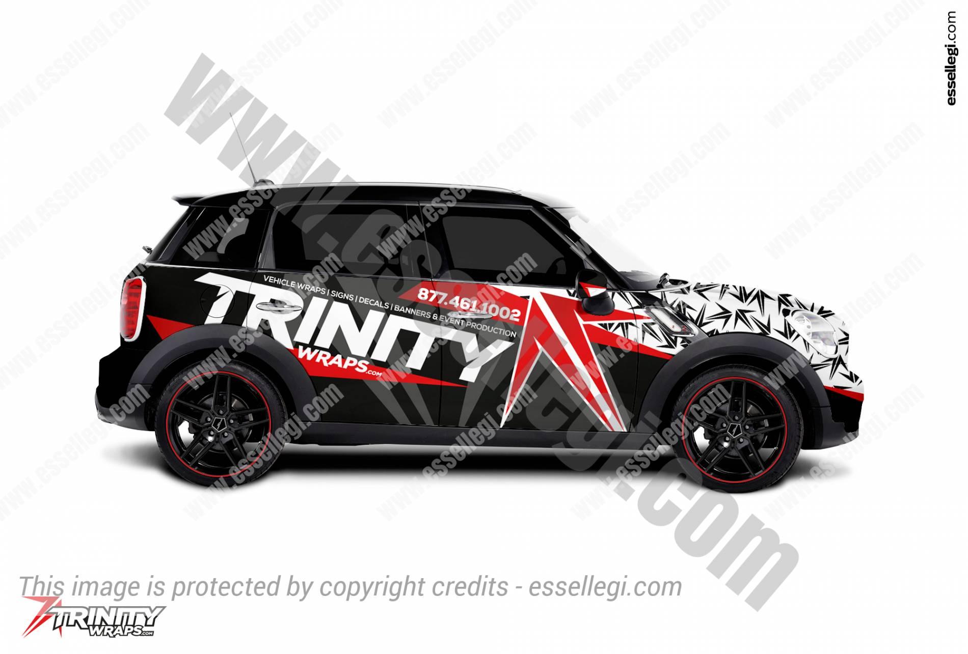 Mini Cooper Countryman Car Wrap Design By Essellegi
