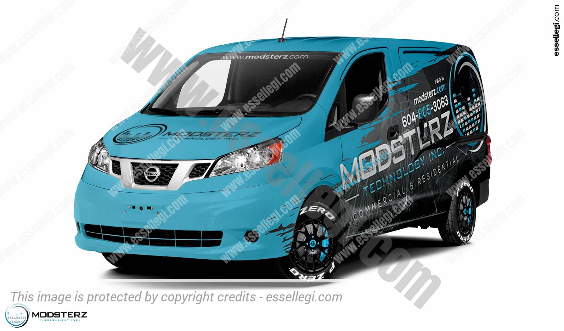 Nissan NV200 | Van Wrap Design by Essellegi. Van Signs, Van Signage, Van Wrapping, Van Signwriting, Van Wrap Designer, Signs for Van, Van Logo, Van Graphic by Essellegi.