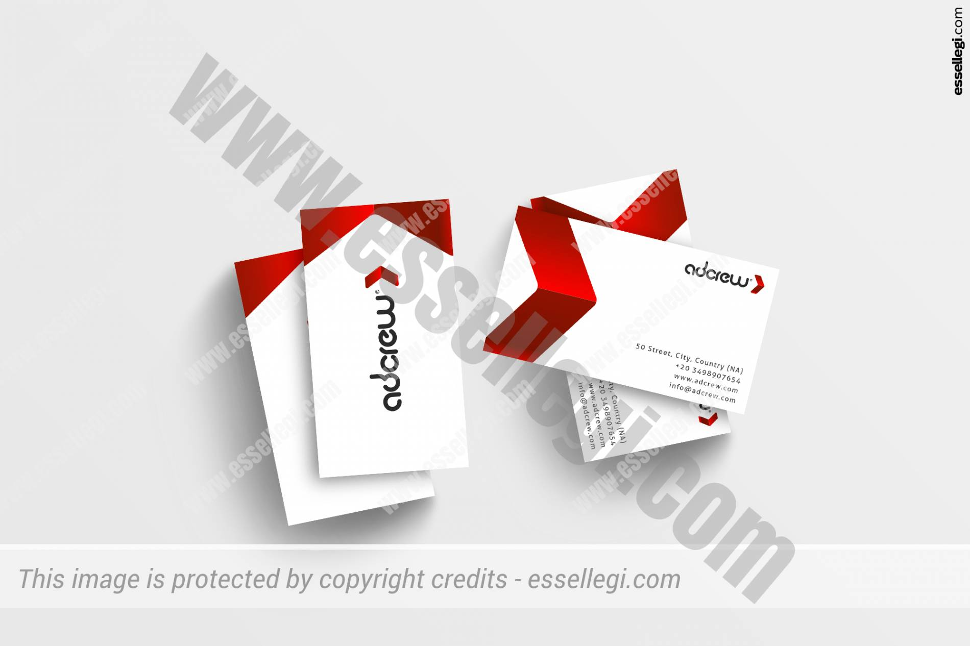 Business Card Design. AdCrew Advertising Marketing Agency Brand Identity Design by Essellegi Design
