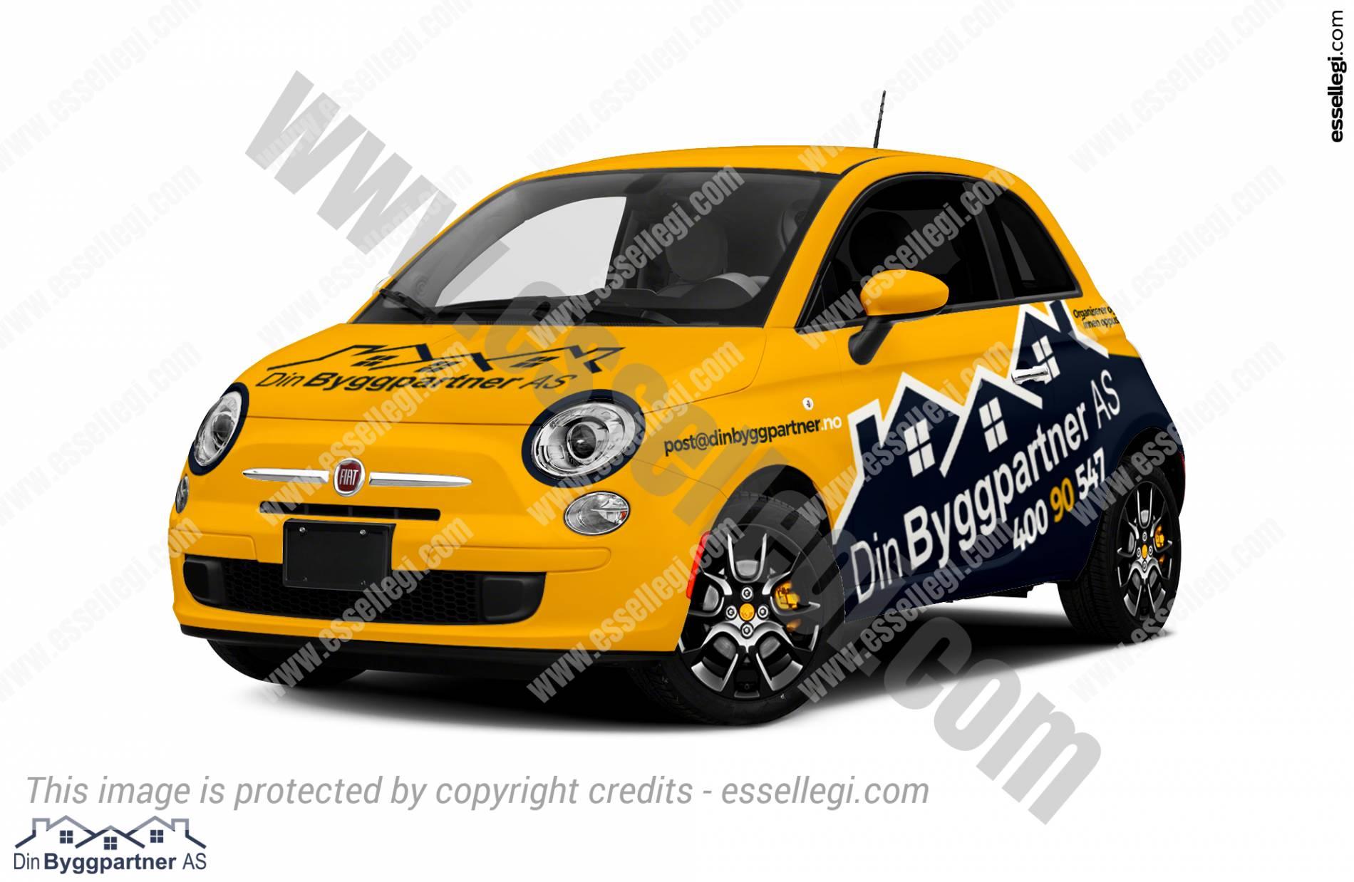 Fiat 500 Car Wrap Design By Essellegi Wrap Design