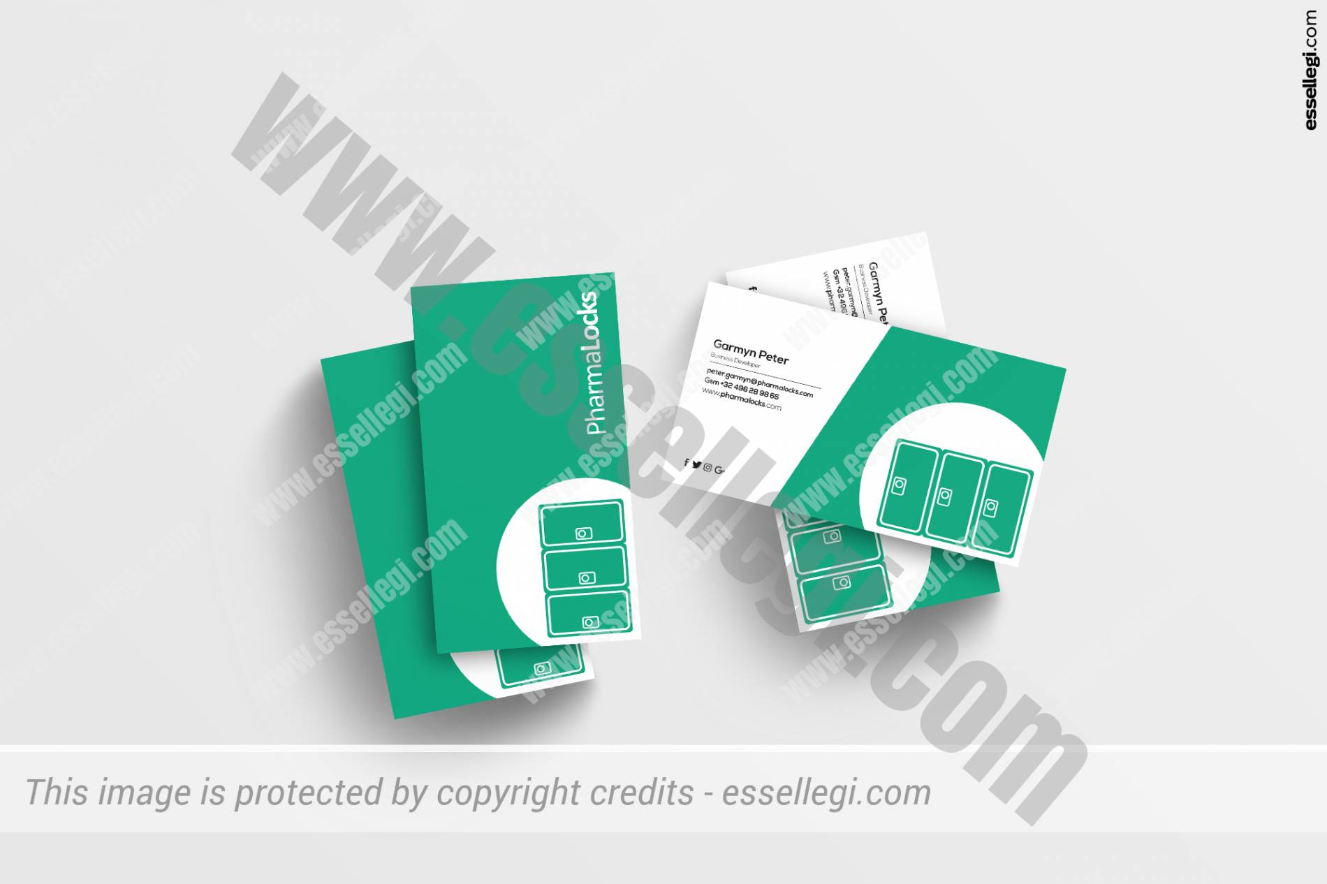 PharmaLocks Business Card Design by Essellegi Design