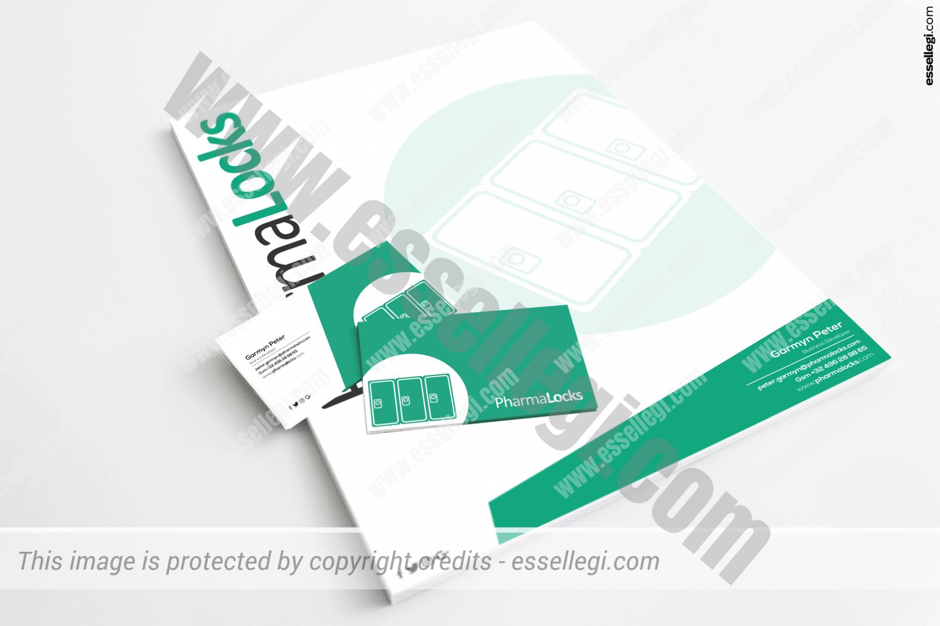 PharmaLocks Brand Identity Design by Essellegi Design