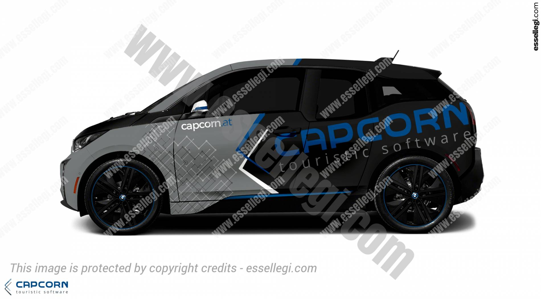 BMW i3 Wrap Design. BMW i3 | Car Wrap Design by Essellegi. Car Signs, Car Signage, Car Signwriting, Car Wrap Designer, Car Graphic, Custom Vehicle Signage, Car Wrap Design by Essellegi.