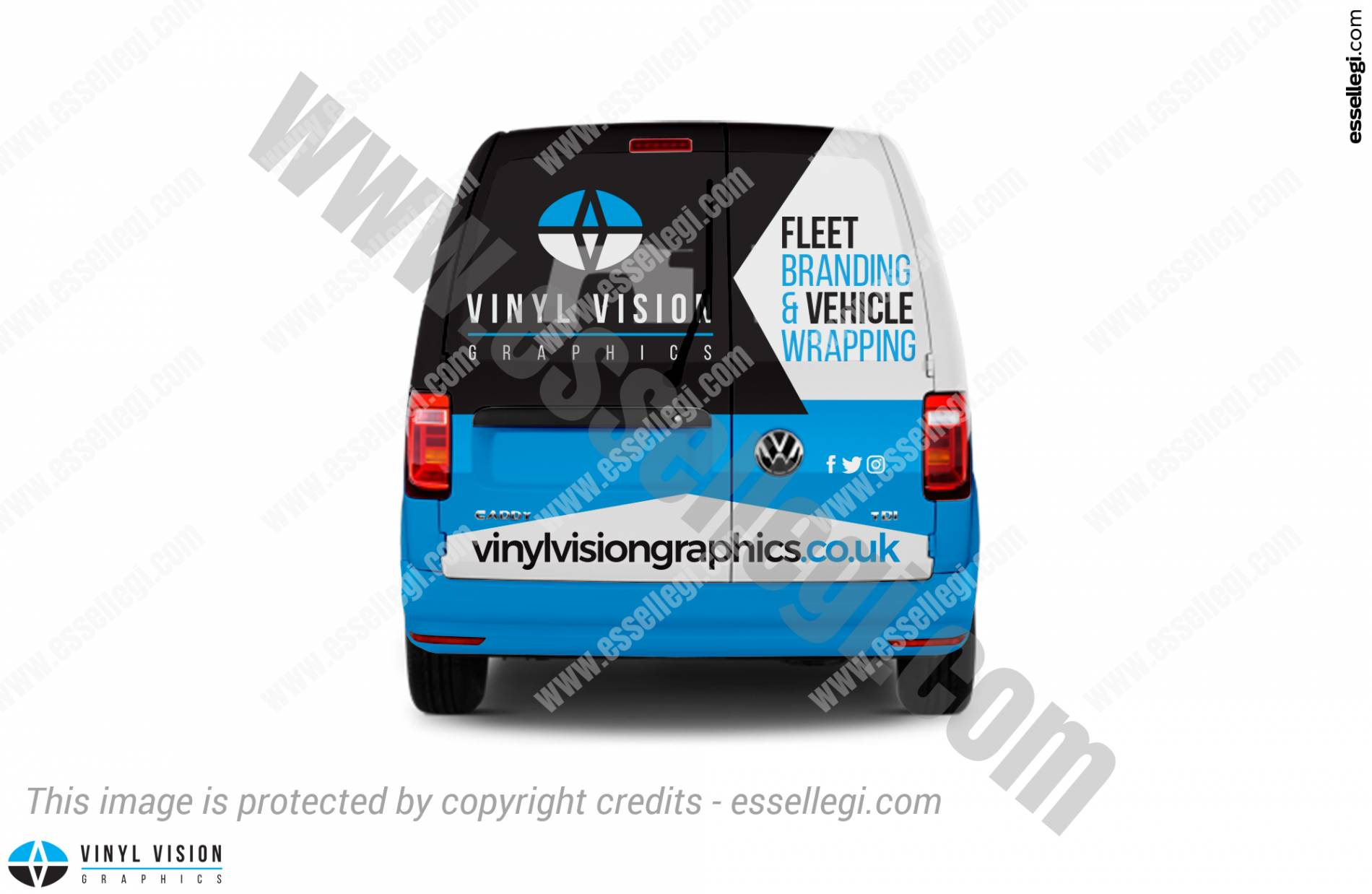 Volkswagen Caddy Wrap Design. Volkswagen Caddy | Van Wrap Design by Essellegi. Van Signs, Van Signage, Van Wrapping, Van Signwriting, Van Wrap Designer, Signs for Van, Van Logo, Van Graphic by Essellegi.