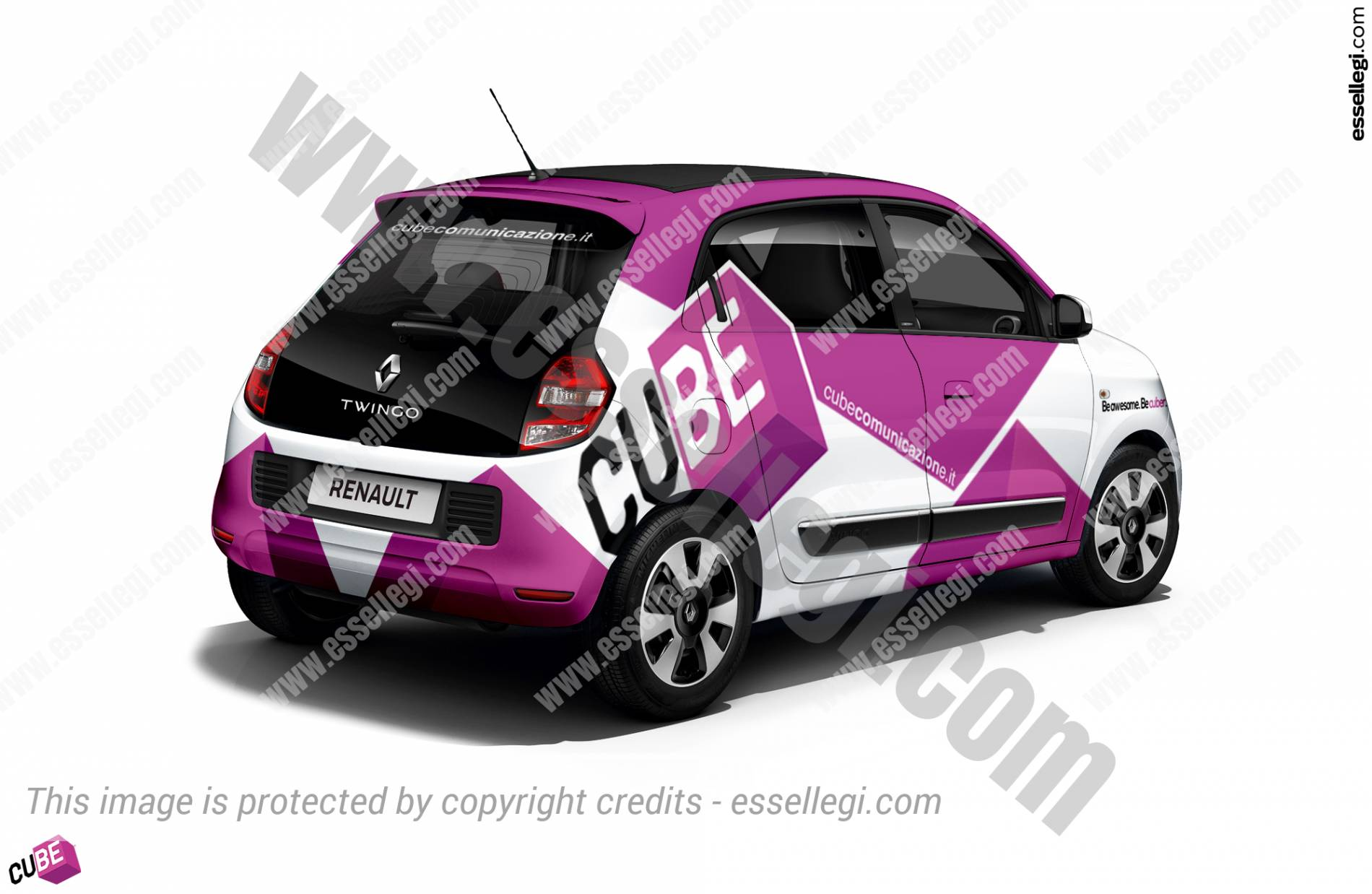 Renault Twingo Wrap Design. Renault Twingo | Car Wrap Design by Essellegi. Car Signs, Car Signage, Car Signwriting, Car Wrap Designer, Car Graphic, Custom Vehicle Signage, Car Wrap Design by Essellegi.