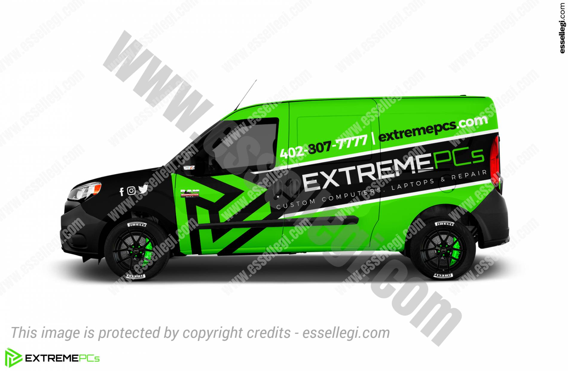 EXTREME PCS | VAN WRAP DESIGN 🇺🇸