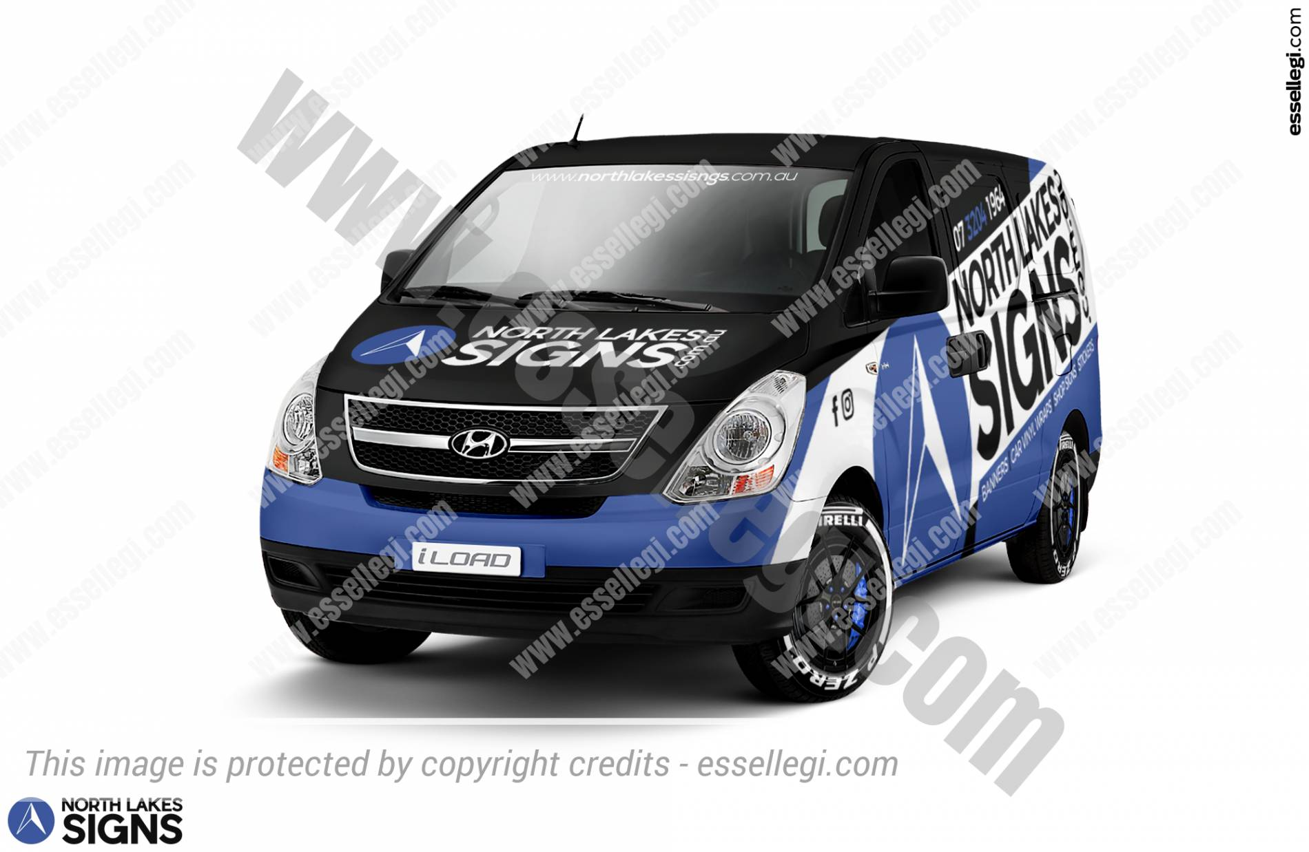 Hyundai iLoad Wrap Design. Hyundai iLoad   Van Wrap Design by Essellegi. Van Signs, Van Signage, Van Wrapping, Van Signwriting, Van Wrap Designer, Signs for Van, Van Logo, Van Graphic by Essellegi.