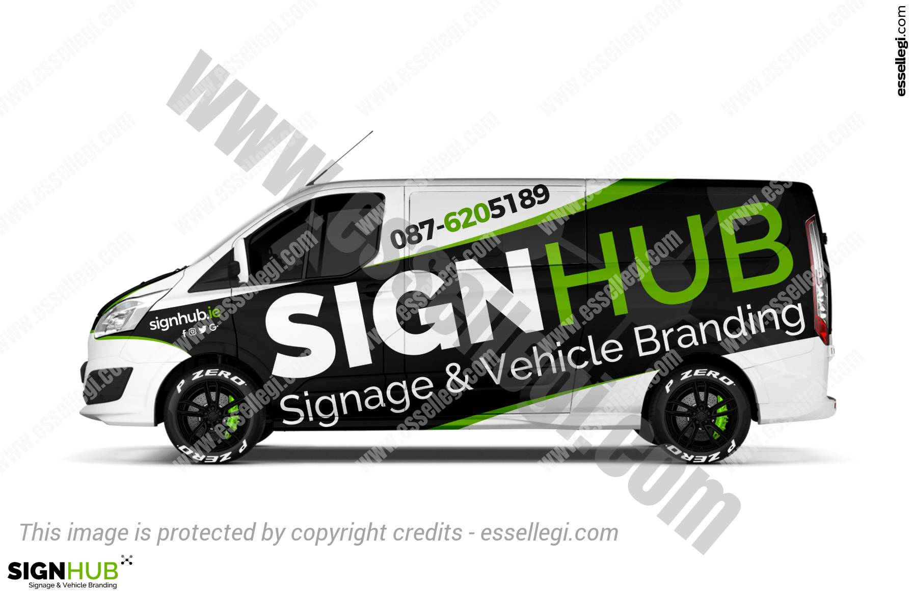 Ford Transit Connect >> Van Wrap Design | Vehicle Wrap Design by Essellegi