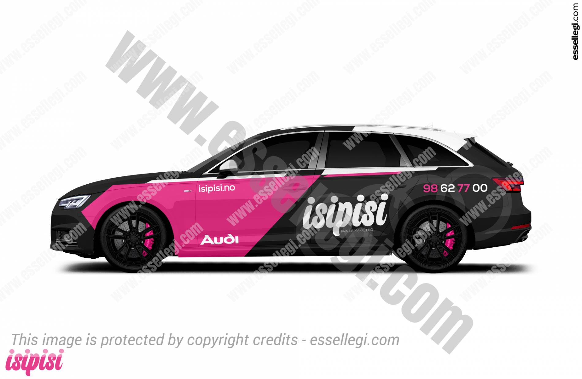 Audi A4 Wrap Design. Audi A4 Avant | Car Wrap Design by Essellegi. Car Signs, Car Signage, Car Signwriting, Car Wrap Designer, Car Graphic, Custom Vehicle Signage, Car Wrap Design by Essellegi.