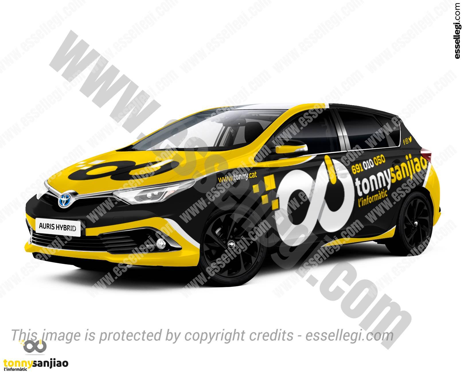 TOYOTA AURIS | CAR WRAP DESIGN