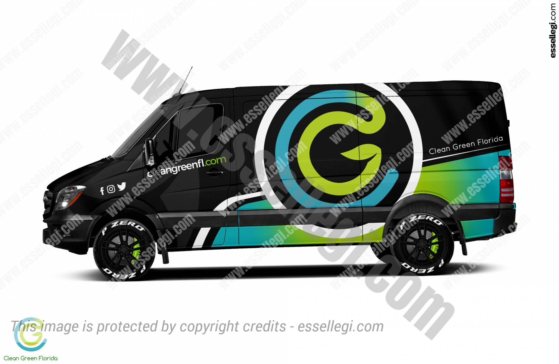 CLEAN GREEN FLORIDA | VAN WRAP DESIGN 🇺🇸