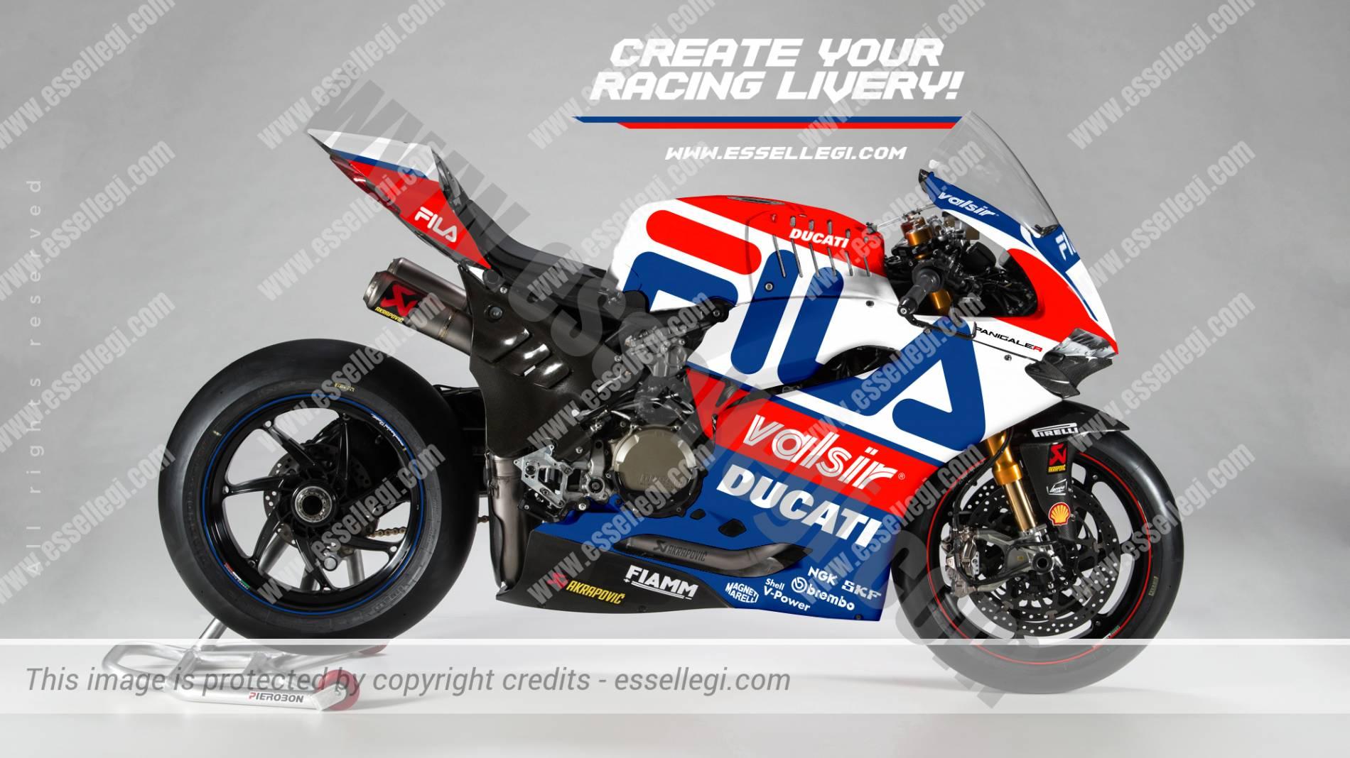 DUCATI 1299 PANIGALE R | FILA TRIBUTE RACING BIKE LIVERY