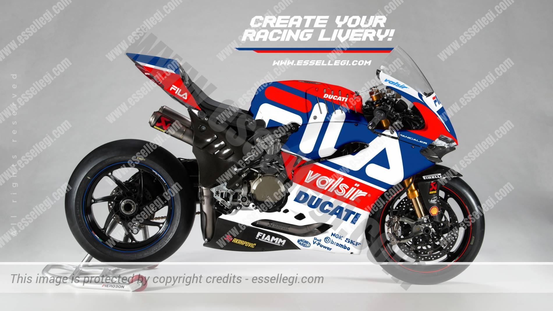 Ducati 1299 Panigale R | Fila Tribute Racing Bike Livery. Racing Bike Liveries, Bike Livery, Bike Liveries, Motorsport Livery, Motorsport Liveries, Race Bike Livery, Race Bike Liveries