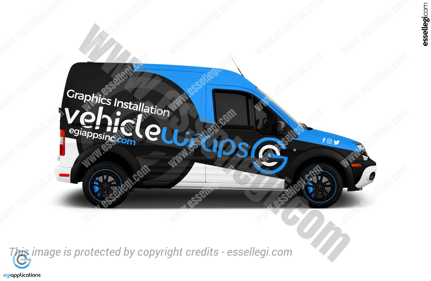 Ford Transit Connect Wrap. Ford Transit Connect | Van Wrap Design by Essellegi. Van Signs, Van Signage, Van Wrapping, Van Signwriting, Van Wrap Designer, Signs for Van, Van Logo, Van Graphic by Essellegi.