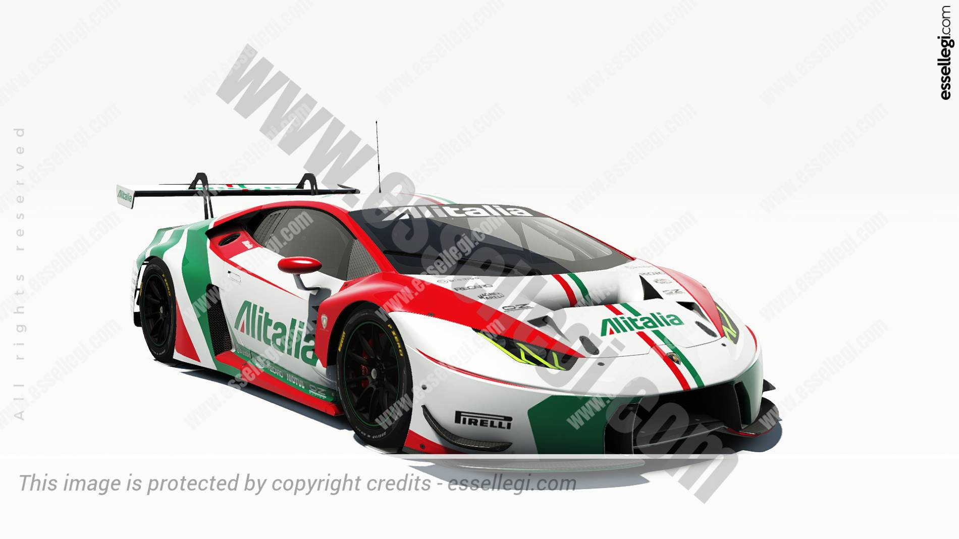 lambo huracan gt3 alitalia tribute racing car livery by. Black Bedroom Furniture Sets. Home Design Ideas