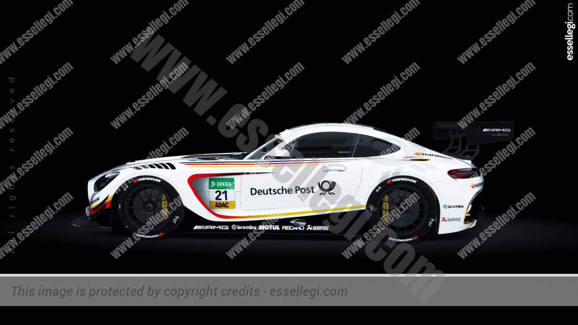 Mercedes AMG GT3 Deutsche Post Tribute Racing Car Livery